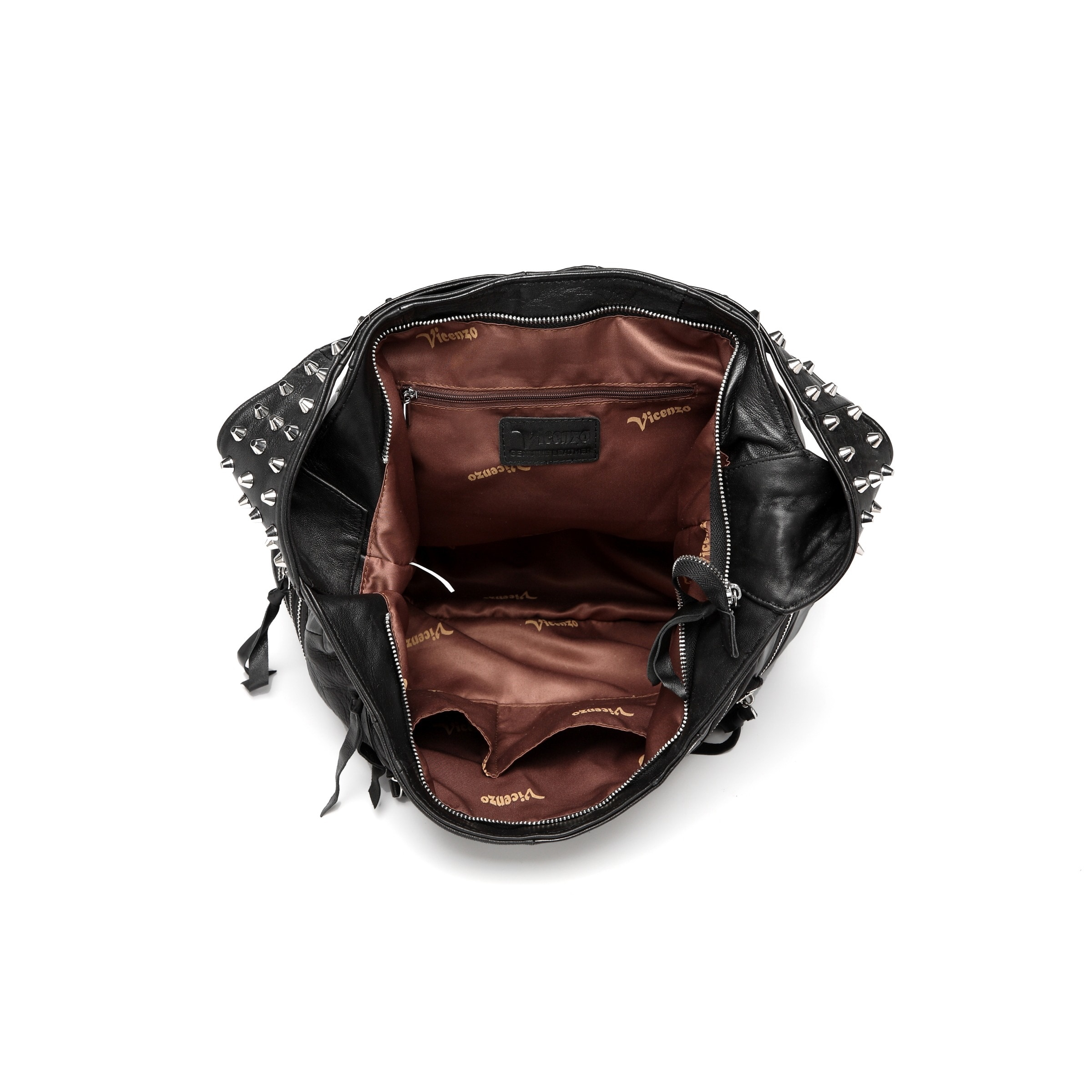 Shop Vicenzo Leather Swagger Studded Hobo Handbag - Free Shipping Today -  Overstock.com - 10971441 a9b605ff6c
