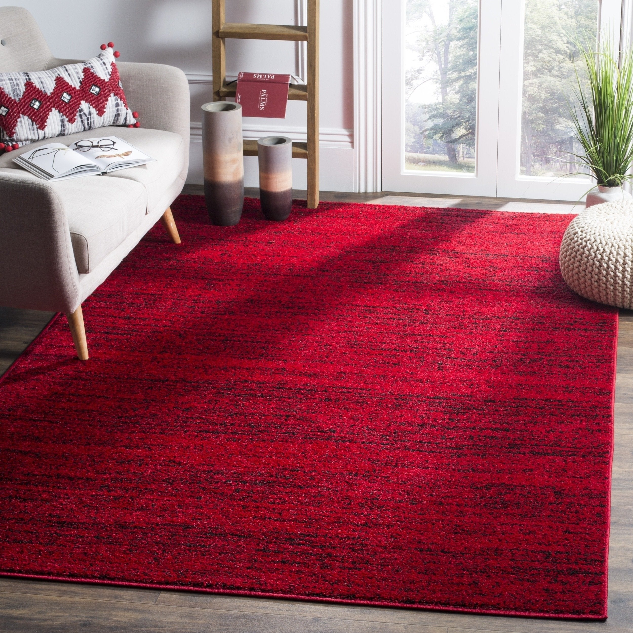 Shop safavieh adirondack modern red black rug 4 x 6 on sale free shipping today overstock com 10971543