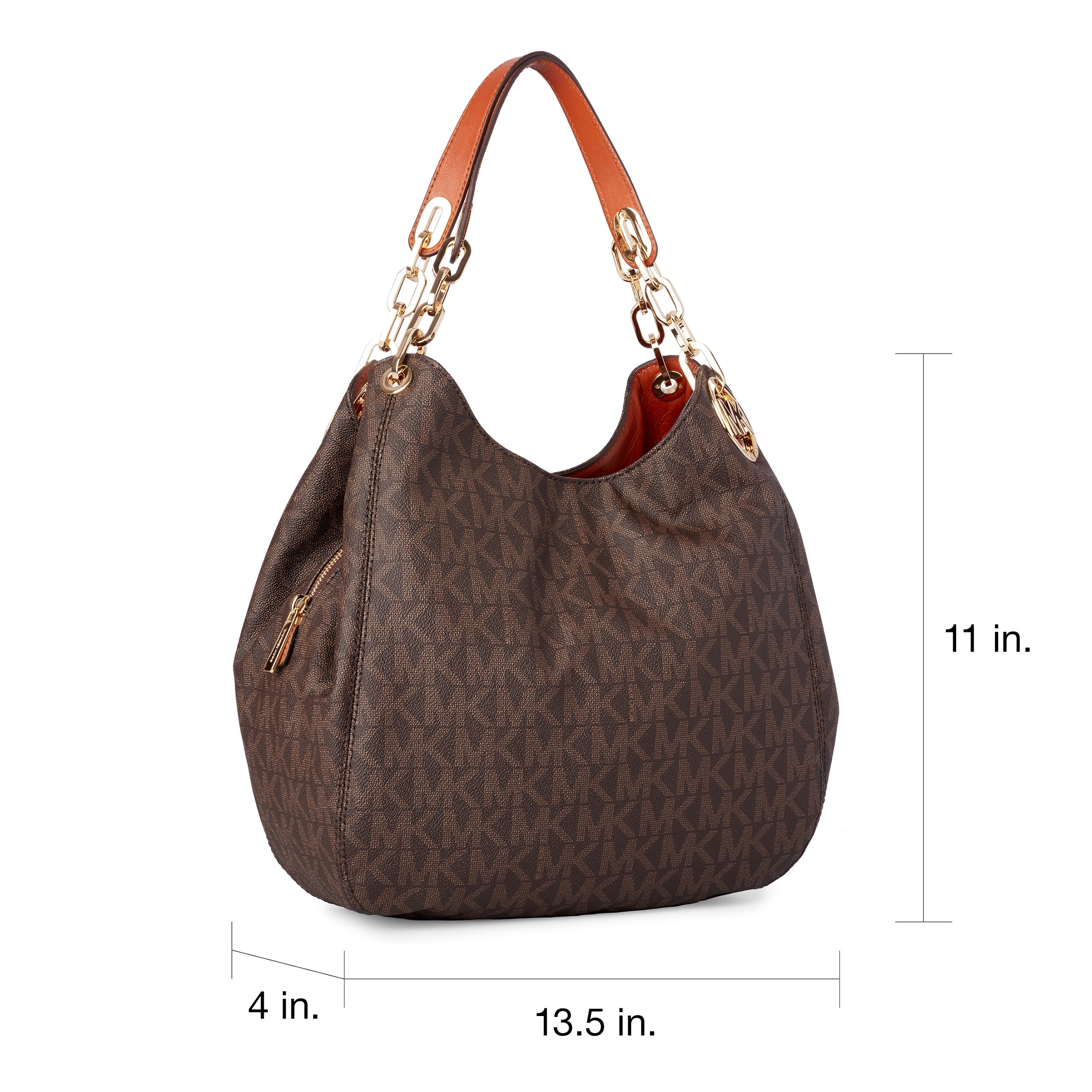 1dc111b702fa Shop Michael Kors Fulton Large Signature Shoulder Tote Bag - Free Shipping  Today - Overstock - 10971921