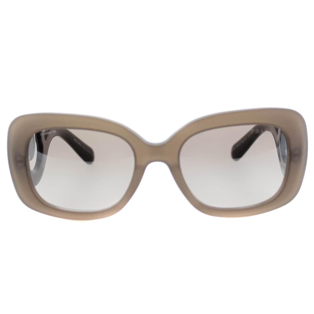 7ede5a8b633 Prada Womens PR 27OS UBU4O0 Matte Brown Transparent Rectangle Minimal-Baroque  Sunglasses