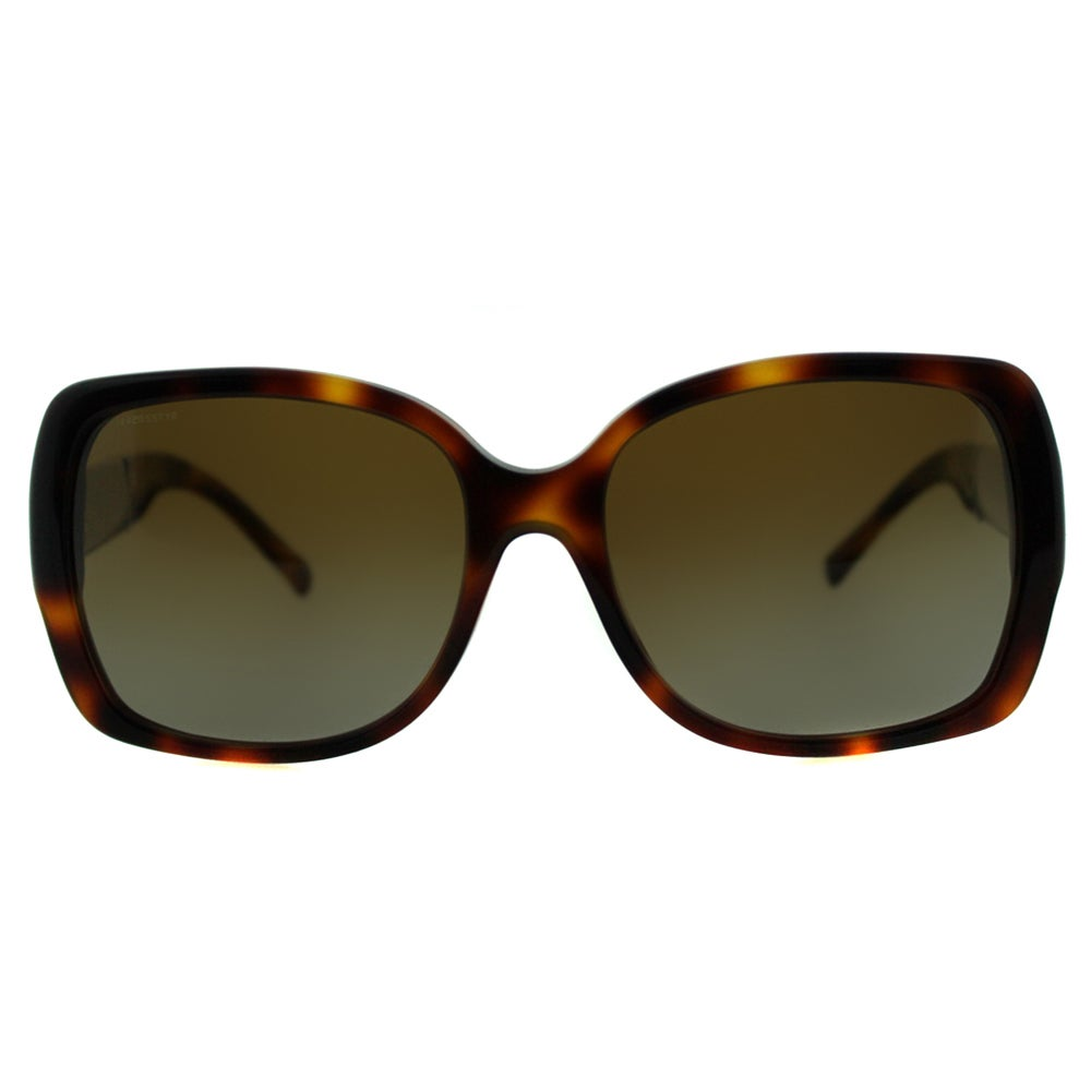 12d6d41ddd Shop Burberry Women s BE 4160 3316T5 Light Havana Plastic Square Sunglasses  - Free Shipping Today - Overstock - 10978573