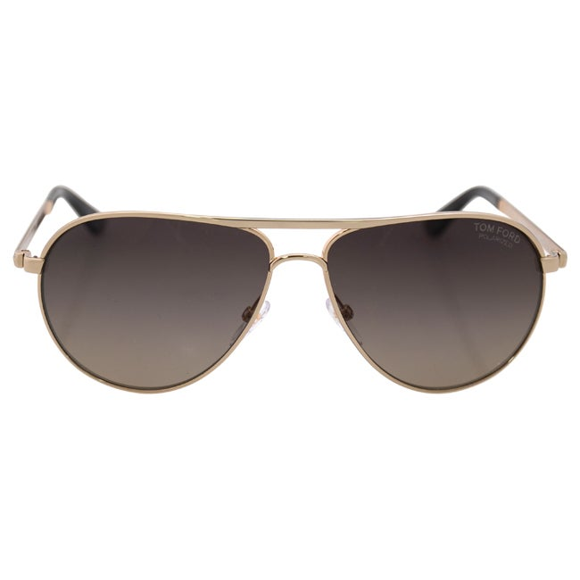 a4927fc8dff Shop Tom Ford Men s TF 144 Marko 28D Shiny Rose Gold Metal Aviator  Polarized Sunglaases - Free Shipping Today - Overstock - 10978575