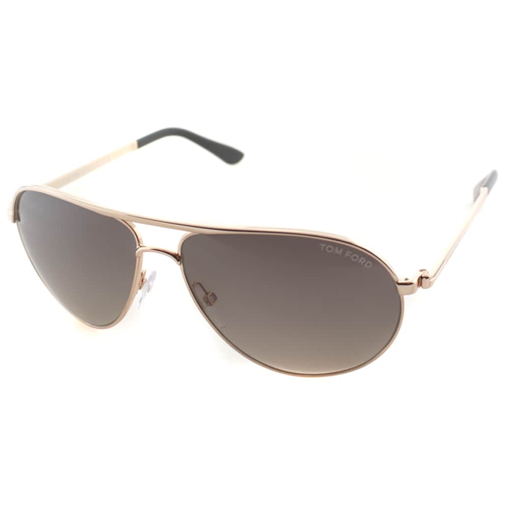 0617938942 Shop Tom Ford Men s TF 144 Marko 28D Shiny Rose Gold Metal Aviator Polarized  Sunglaases - Free Shipping Today - Overstock - 10978575