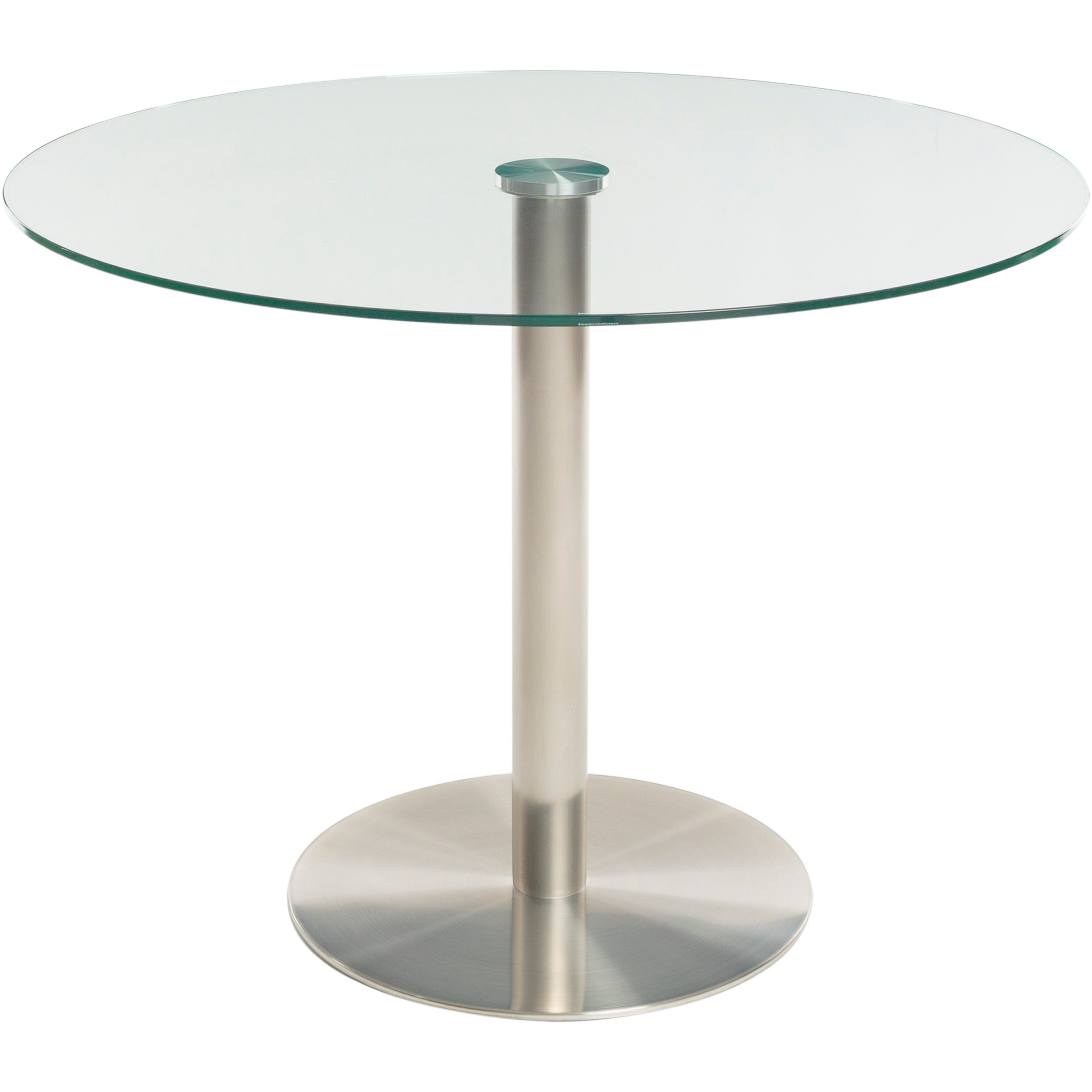 MIX Brushed Stainless Steel Round Glass Dining Table And Memory Swivel  Chairs 5 Piece Set   Free Shipping Today   Overstock.com   18001321