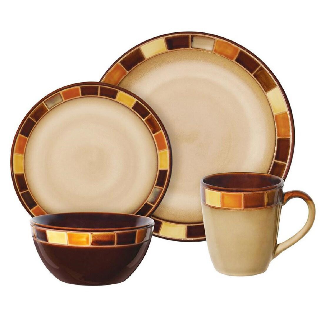 Casa Estebana 16-piece Dinnerware Set - Free Shipping Today - Overstock - 18002271  sc 1 st  Overstock & Casa Estebana 16-piece Dinnerware Set - Free Shipping Today ...