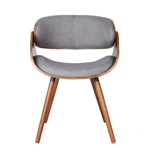 Incroyable Shop Carson Carrington Visby Mid Century Walnut/ Grey Fabric Dining Chair  With Wraparound Back   Free Shipping Today   Overstock.com   20370410