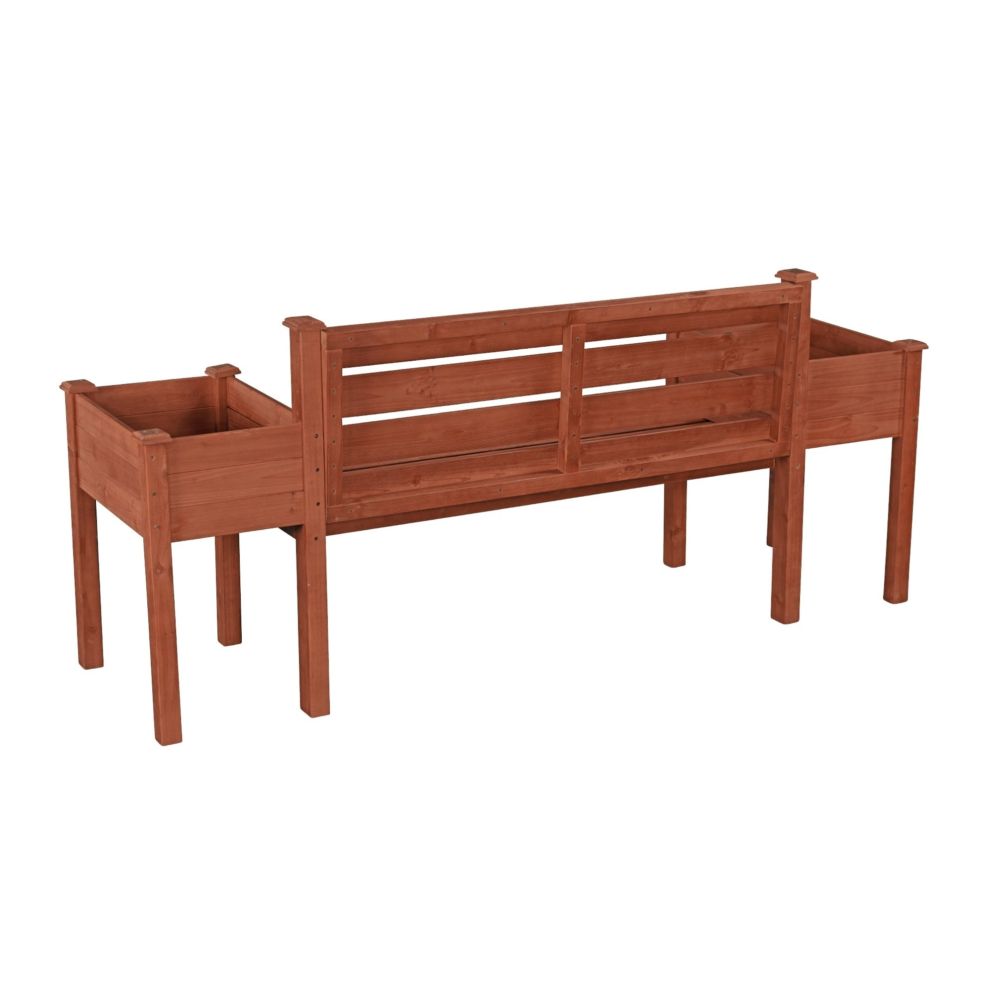 Wood Planter Bench Overstock 10988809