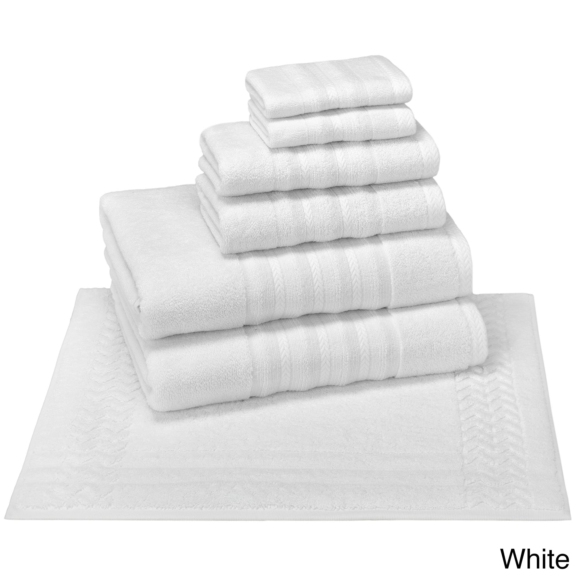 Shop Enchante Allure 6-piece Turkish Towel Set with Bath Rug - On Sale -  Free Shipping Today - Overstock - 10988997 da17385f1