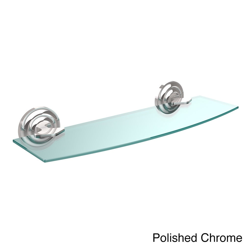 Shop Allied Brass Que New Collection 18-inch Glass Shelf - On Sale ...