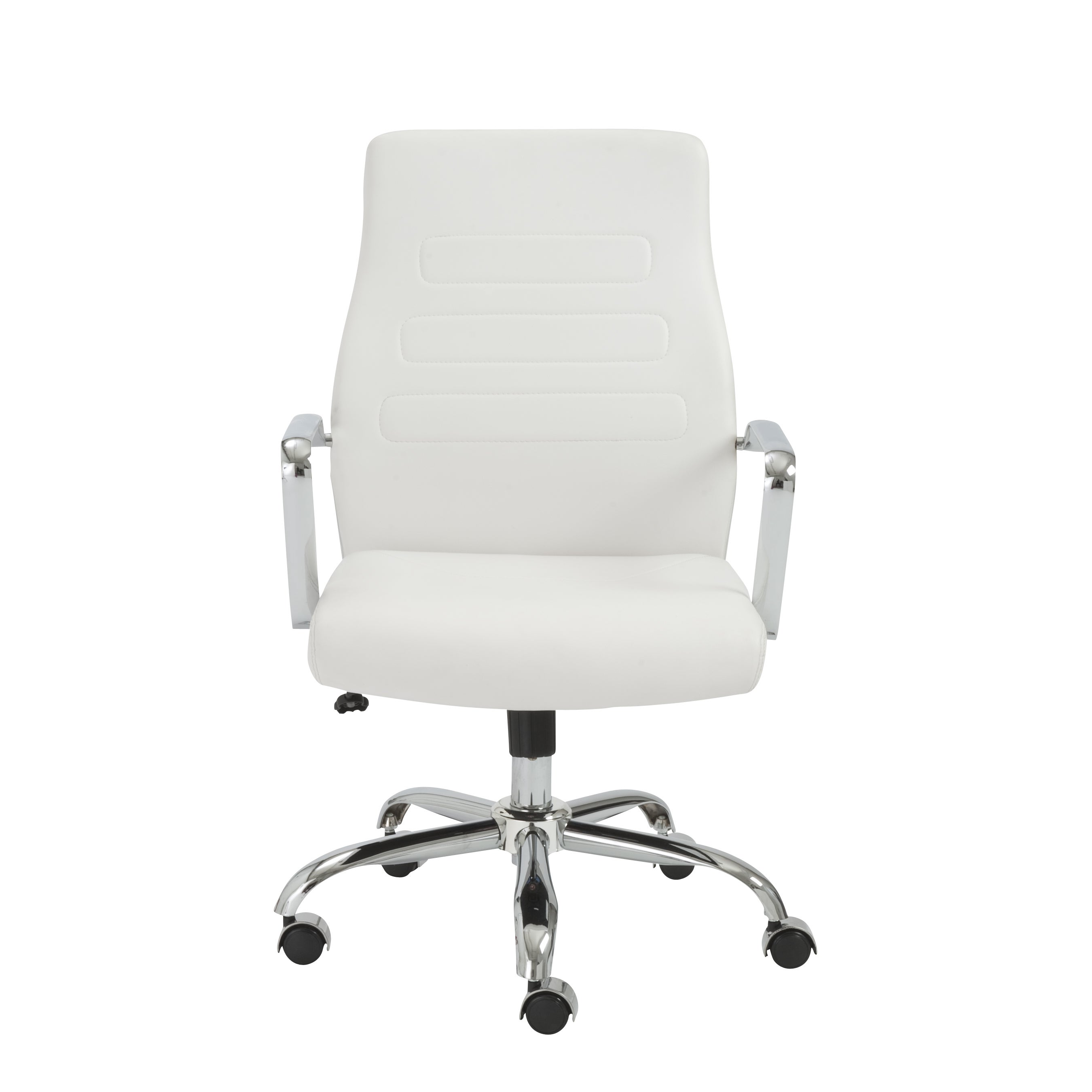 Fenella White Chrome Office Chair Free Shipping Today 10989140