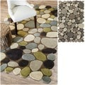 nuLOOM Hand-carved Stones and Pebbles Wool Rug (3'6 x 5'6) in Brown (As Is Item)