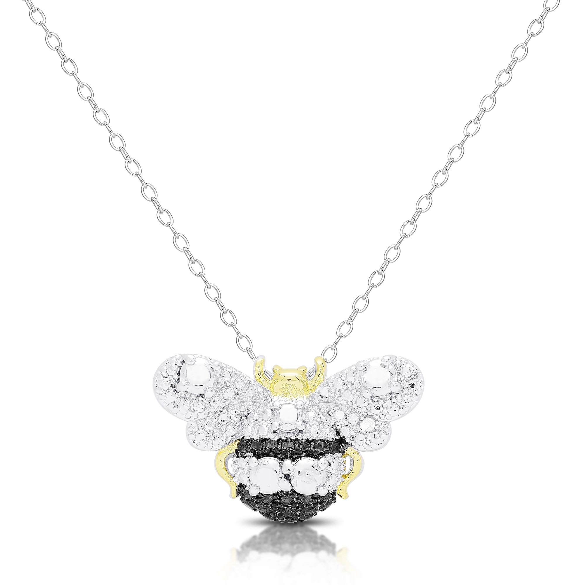 bee pin b bale charm gold pendant with honey clip rd dias diamond