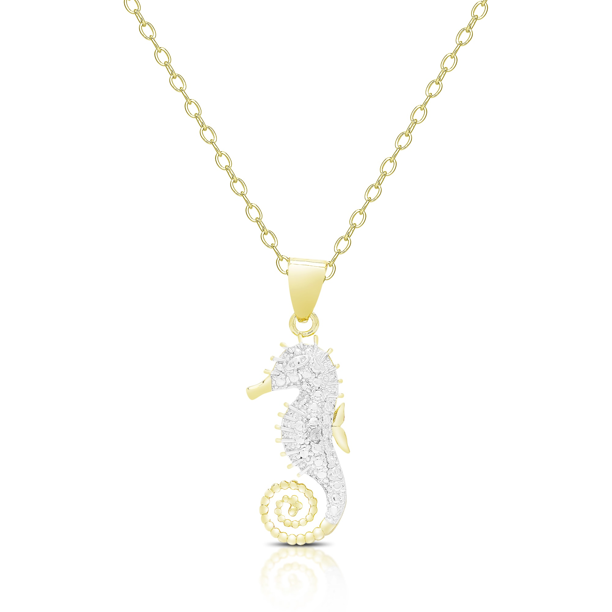 shell and necklace silver seahorsesilgdshell seahorse