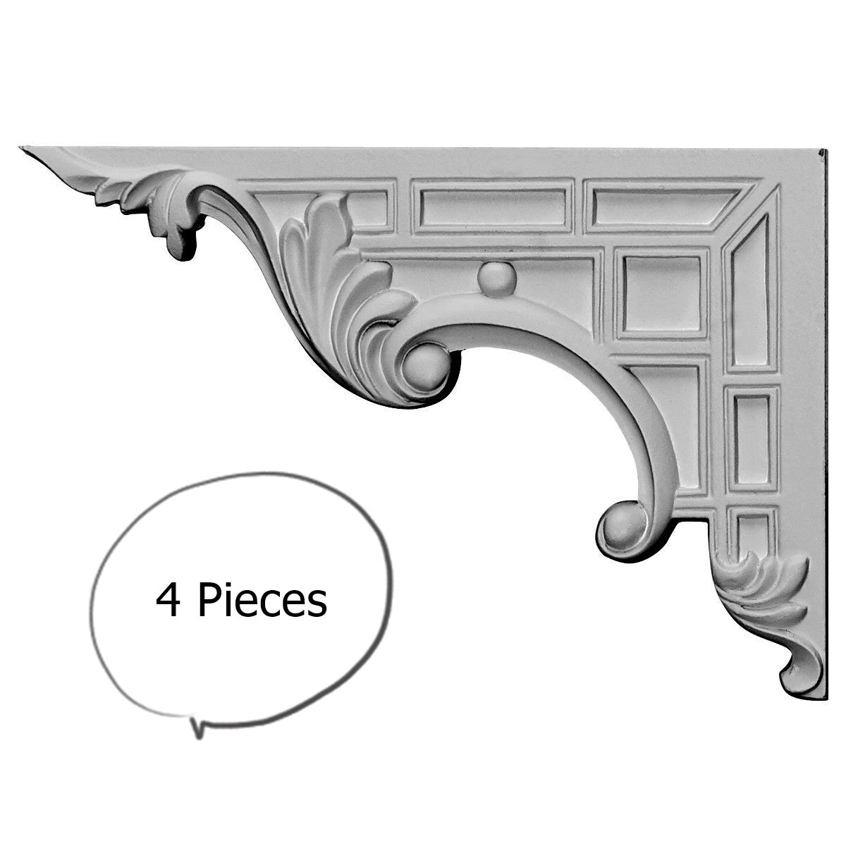 Decorative Stair Brackets LEFT 4 Pieces   Free Shipping Today   Overstock    18012424