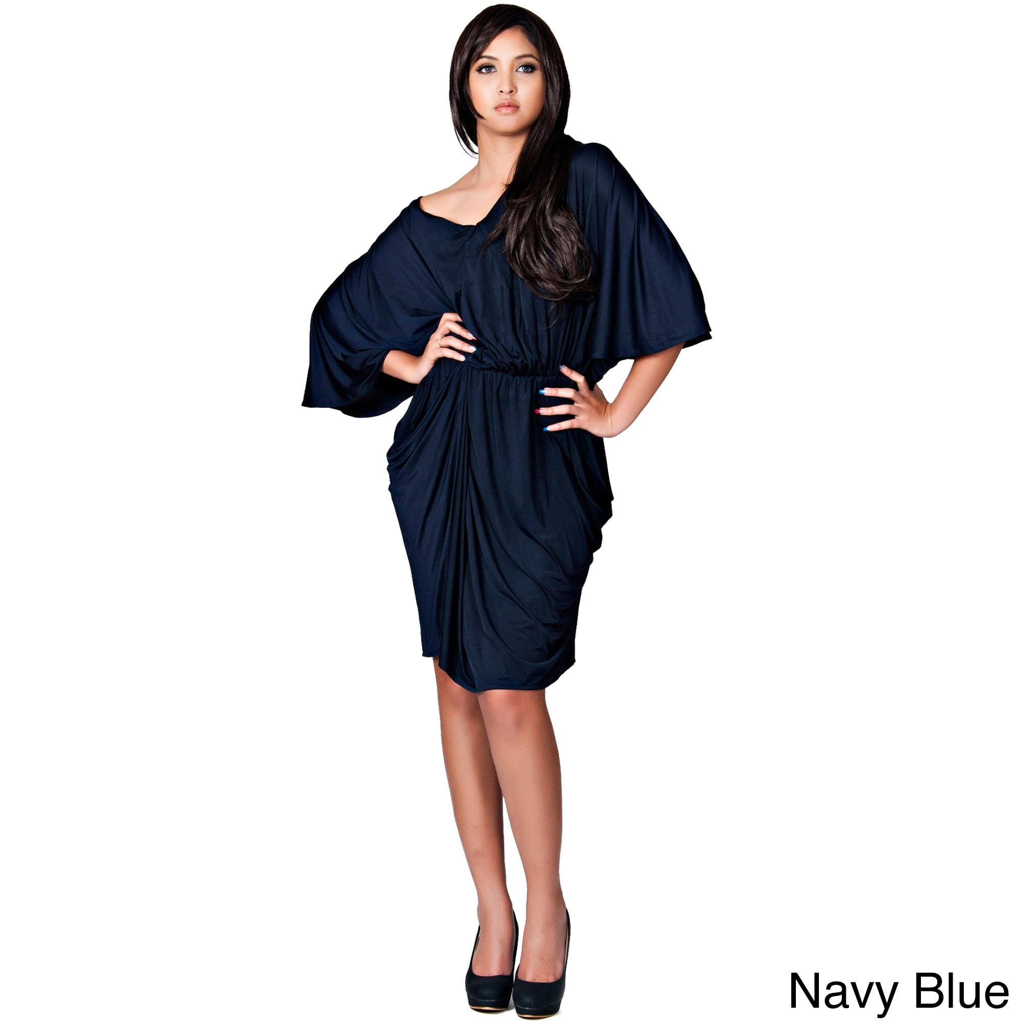 47e0c81bd65e Shop Koh Koh Women s Batwing Sleeve Cocktail Dress - Free Shipping ...