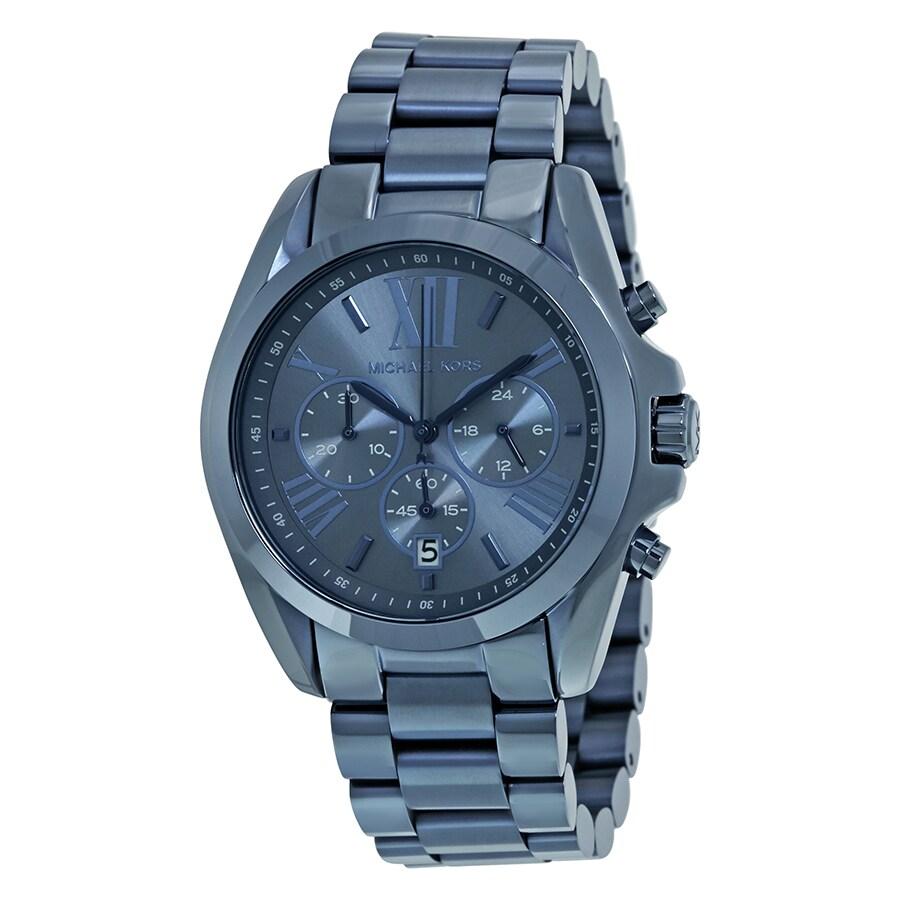 8bd3ad513dd3 Michael Kors Women s MK6248  Bradshaw  Chronograph Blue Stainless Steel  Watch