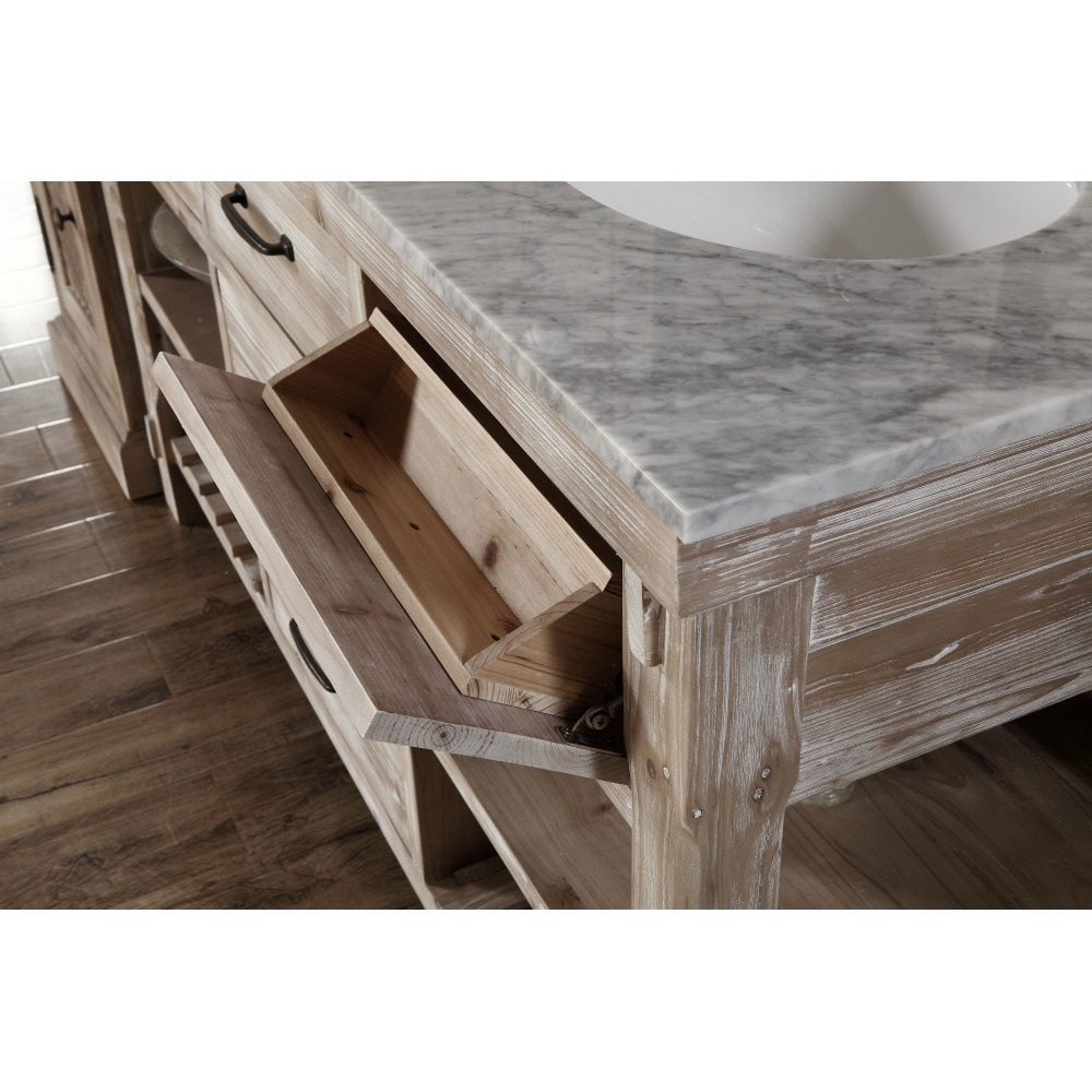 rustic double sink bathroom vanities. Rustic Style 60-inch Double Sink Bathroom Vanity - Free Shipping Today Overstock 18012891 Vanities