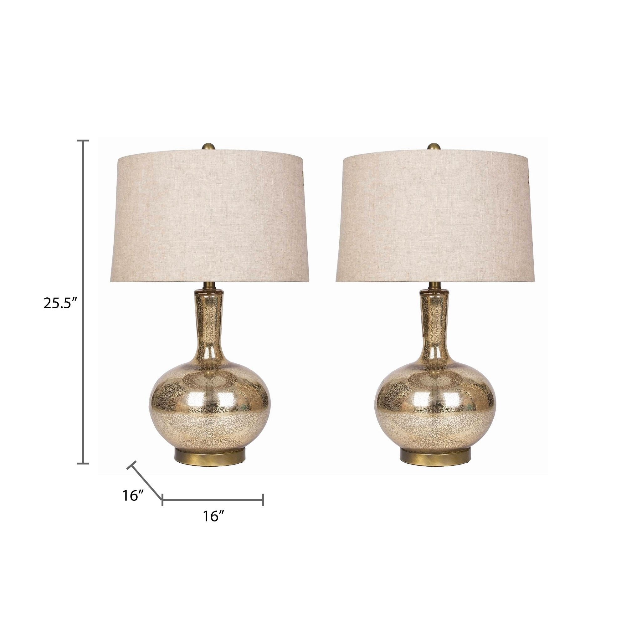 Abbyson Gold Mercury Gl 25 5 Inch Table Lamp Set Of 2 On Free Shipping Today 10992583