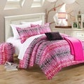 Chic Home Barbie Pink and Black 9-piece Comforter Set