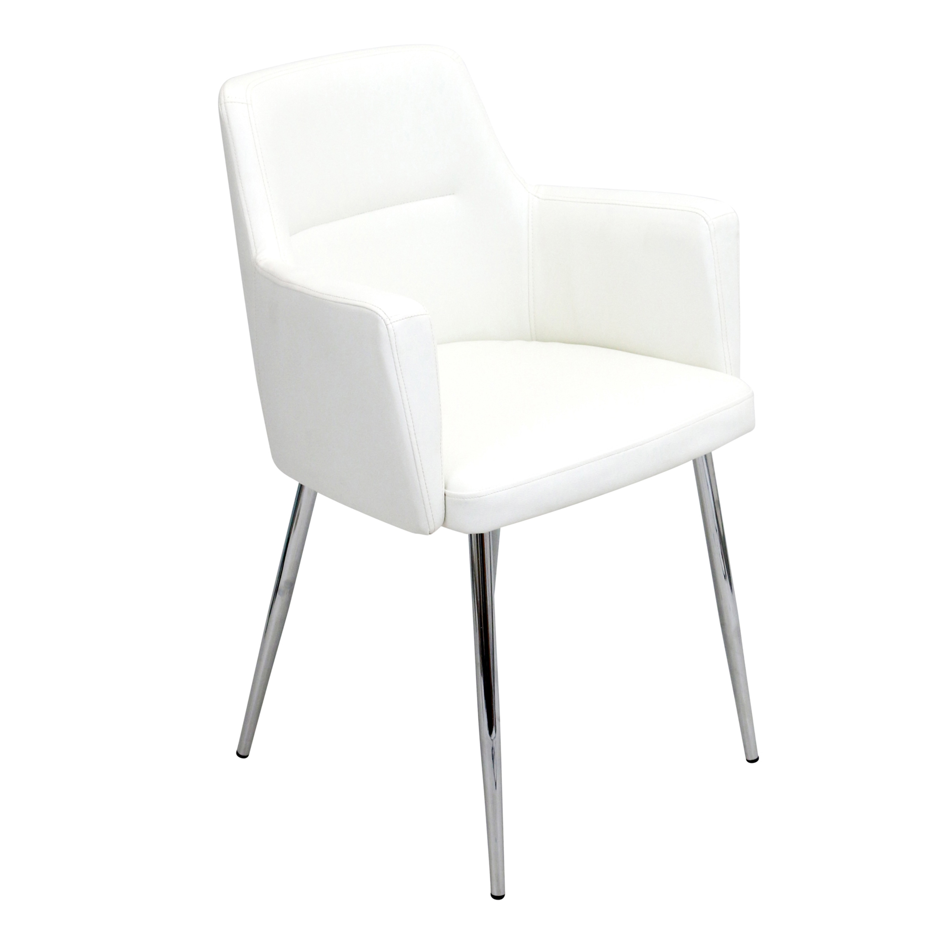 lumisource andrew modern dining chair set of 2 free shipping