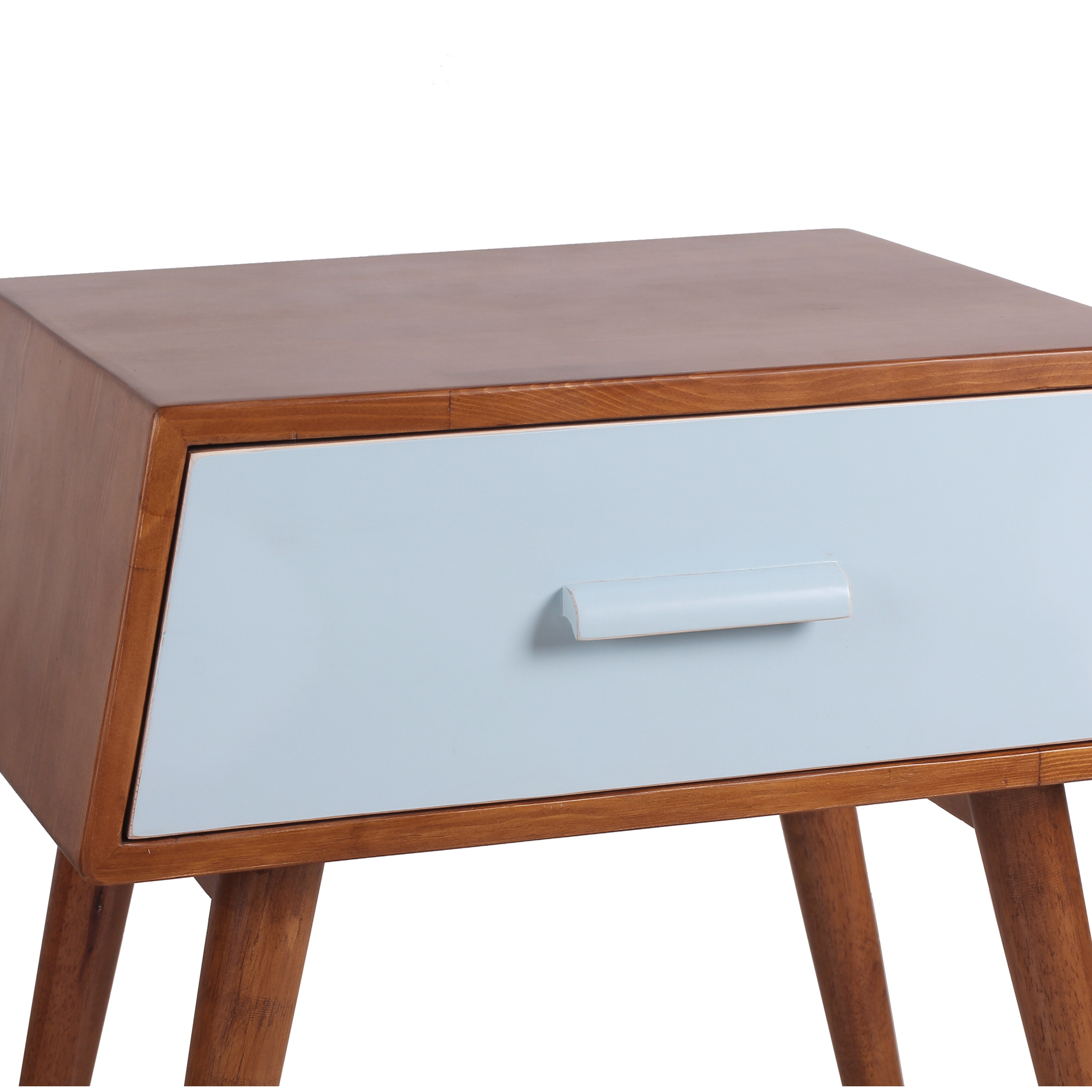 Shop Porthos Home Brooklyn Mid Century Walnut Side Table   On Sale   Free  Shipping Today   Overstock.com   10996114