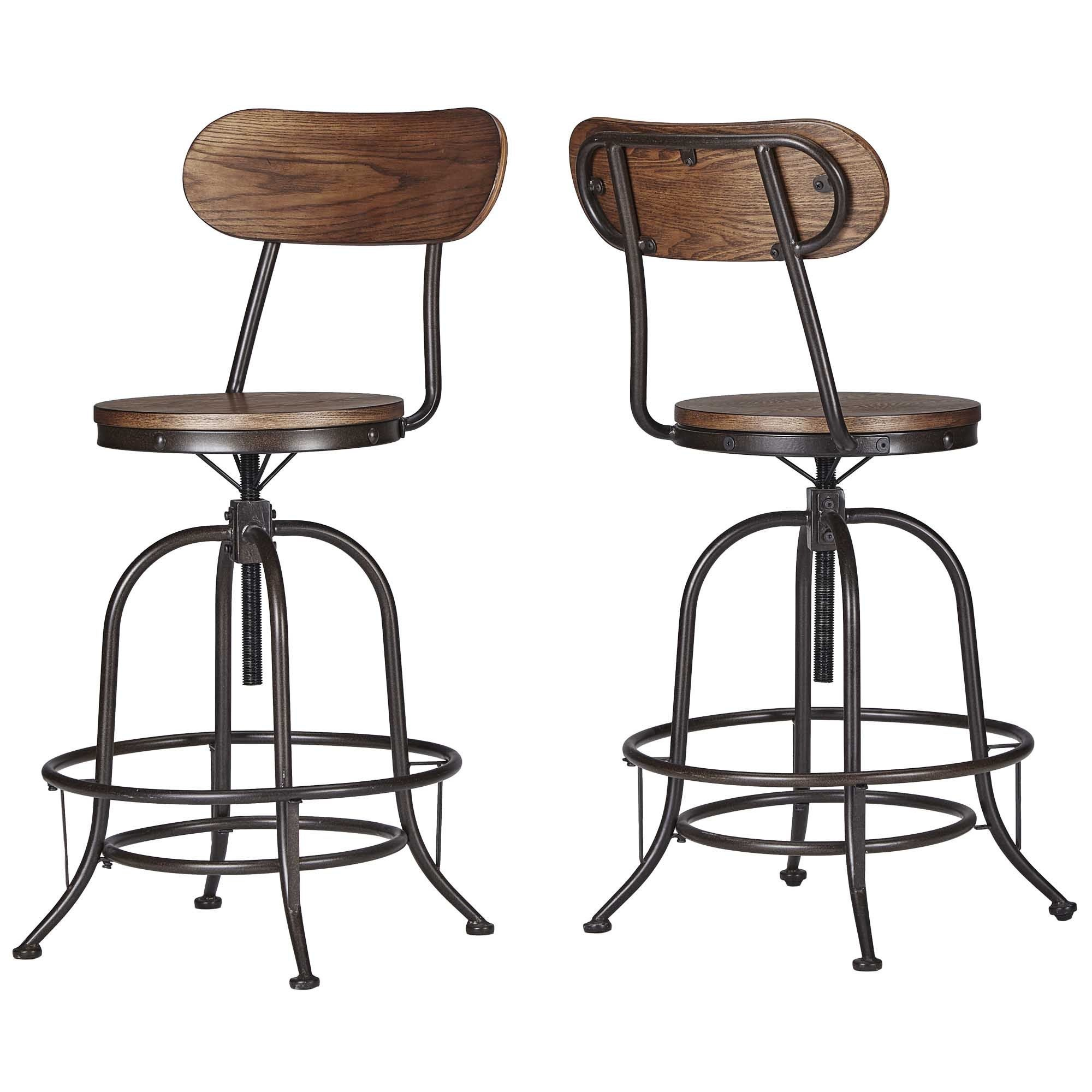 Berwick Iron Industrial Adjustable Counter Height High Back Stools (Set of  2) by iNSPIRE Q Classic - Free Shipping Today - Overstock.com - 18016299