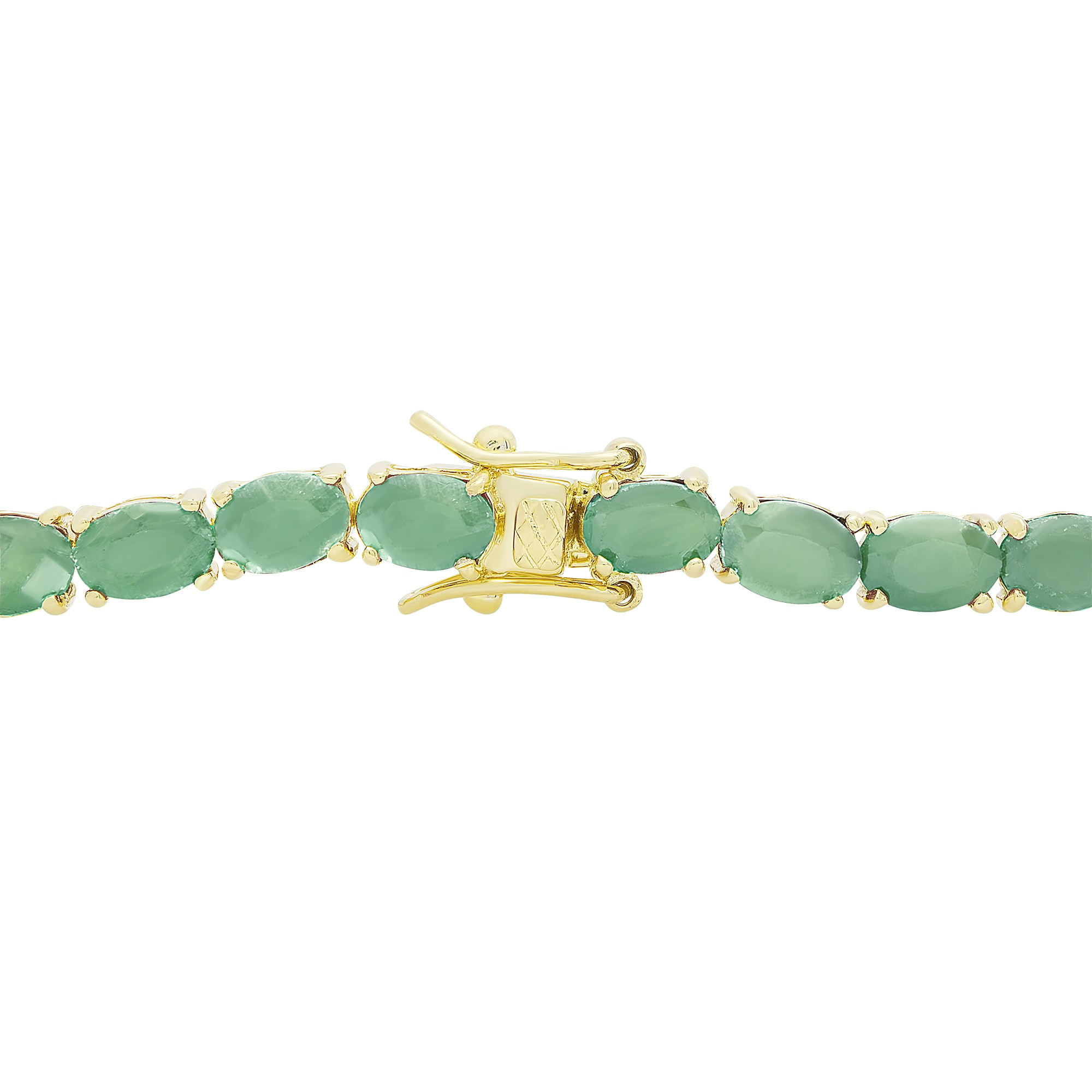bracelet three gold and eternity diamond plated silver cz row tennis emerald