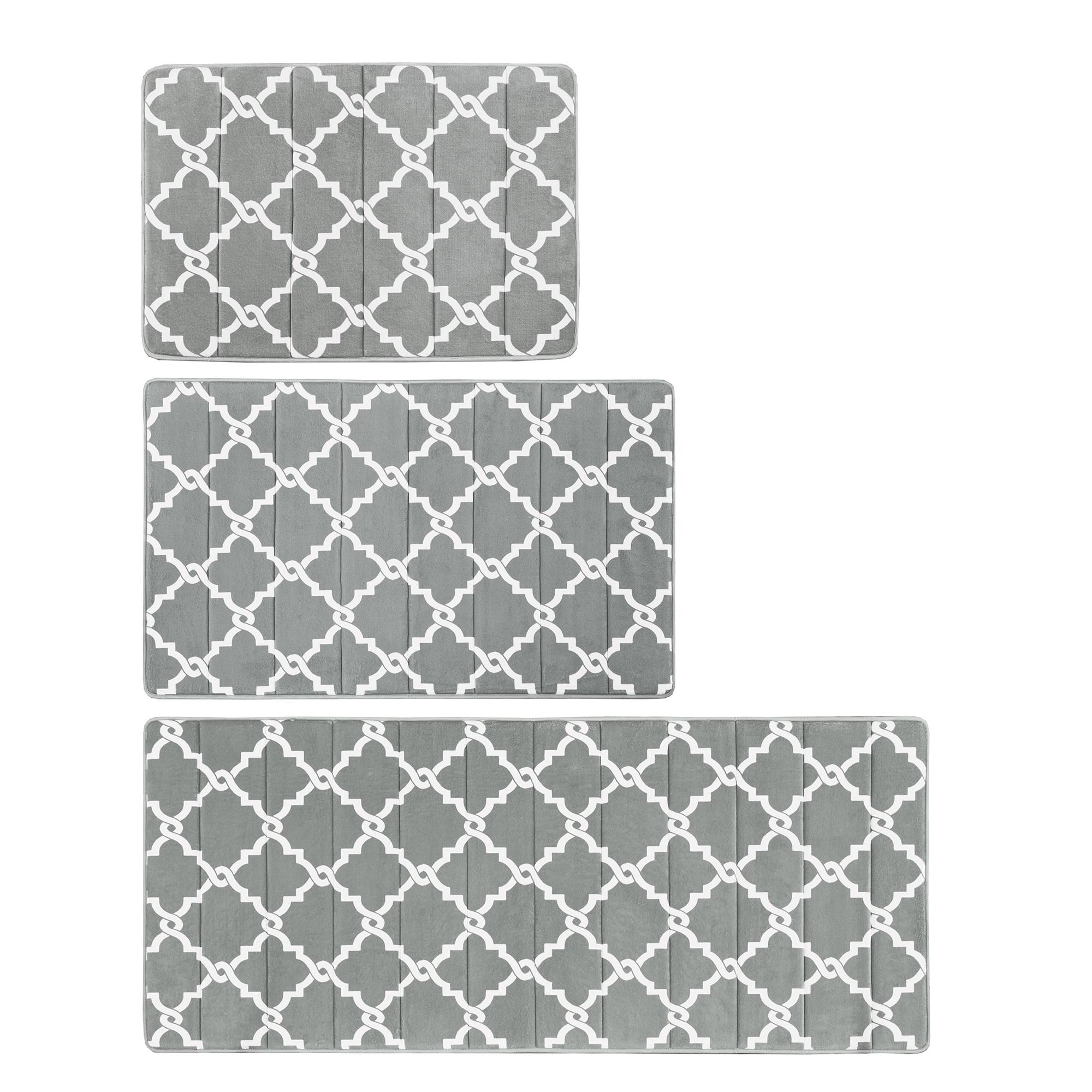 Black White Bathroom Rugs Design Ideas