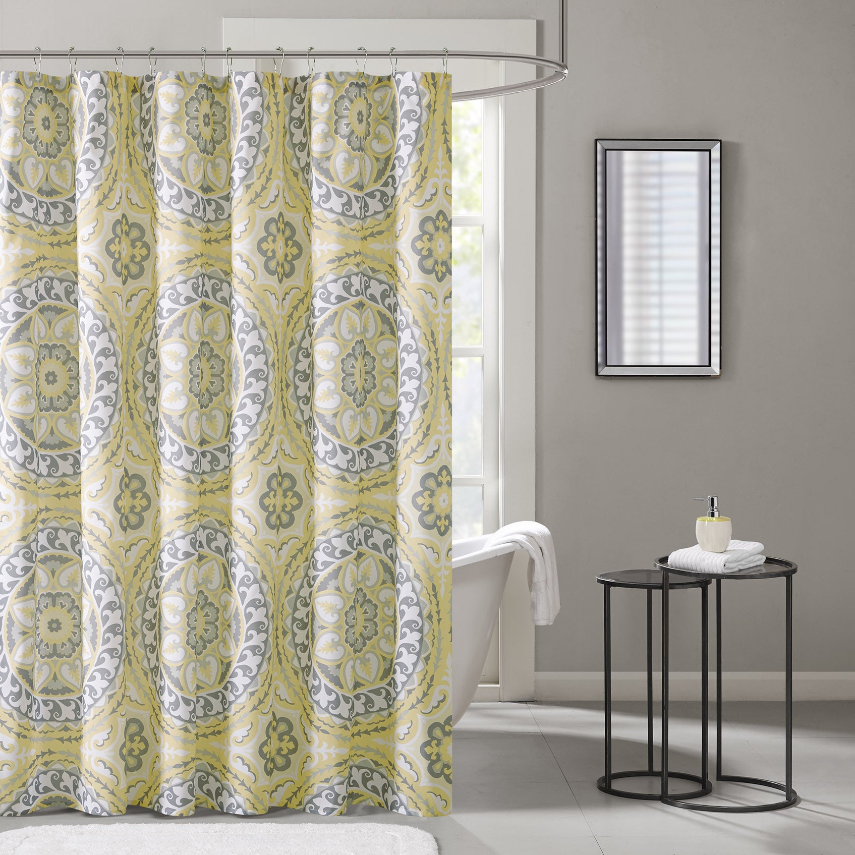 Madison Park Essentials Odisha Printed Shower Curtain 3 Color Options