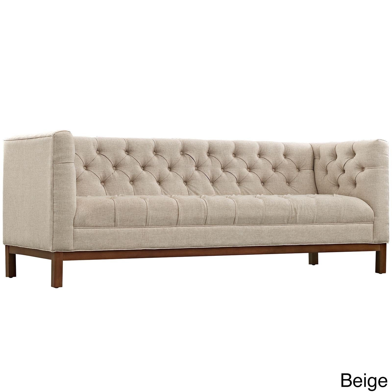Beau Shop Palm Canyon Placer Tufted Fabric Sofa With Clean Lines And High Arm  Rests   Free Shipping Today   Overstock.com   10996755
