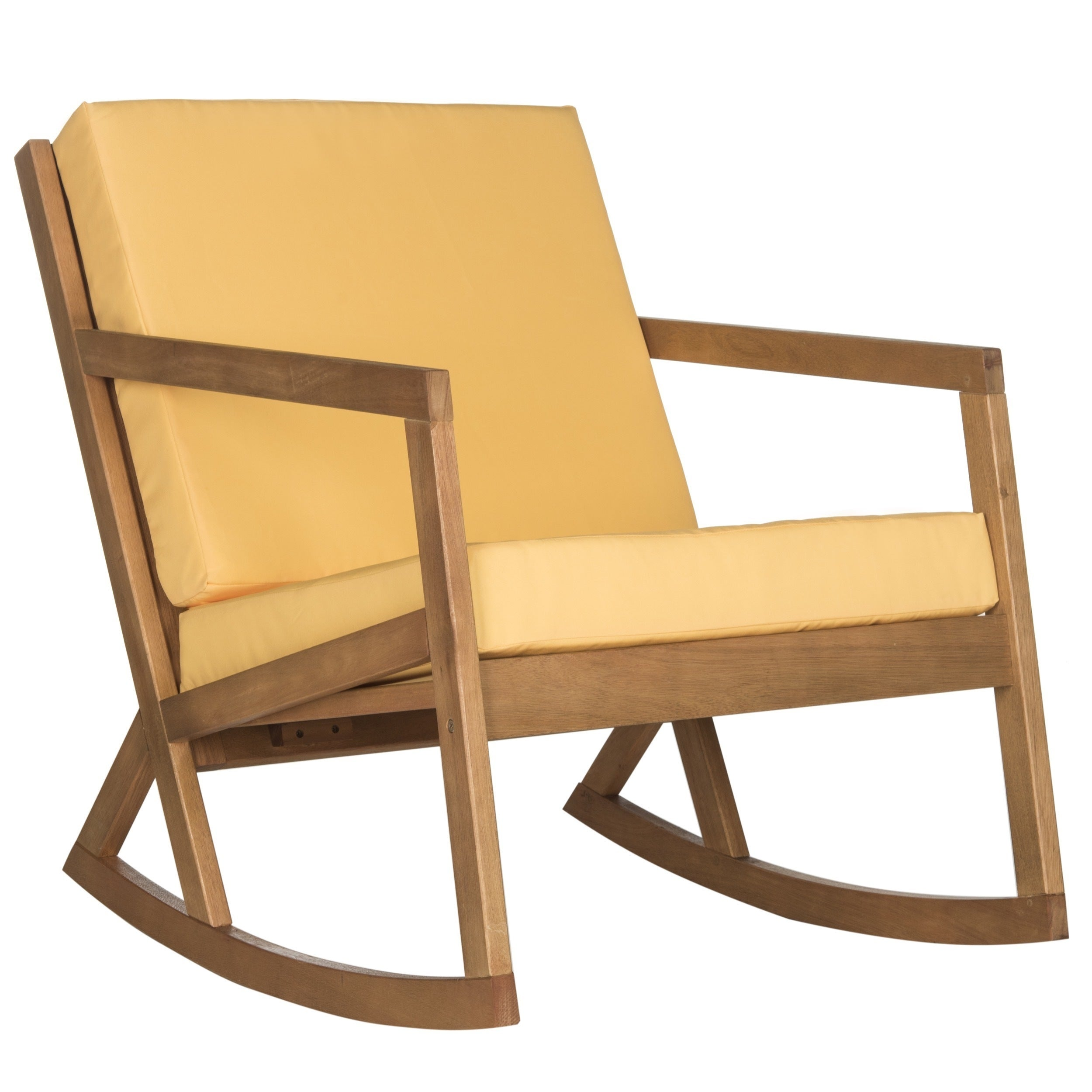 Safavieh Outdoor Living Vernon Brown Yellow Rocking Chair Free Shipping Today 18021025