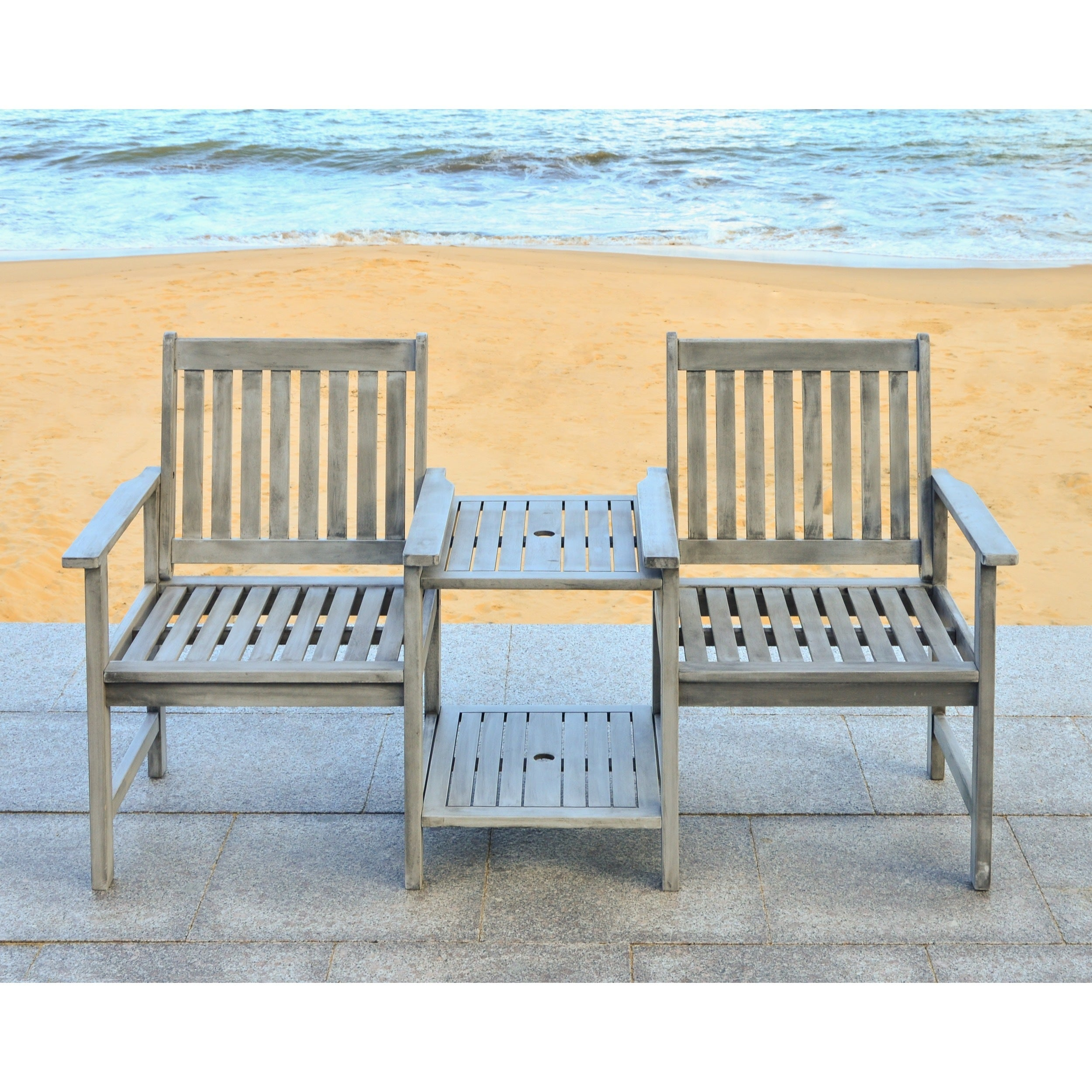 bench all cushions our wicker of acacia weather outdoor and wood woven bining design white seat