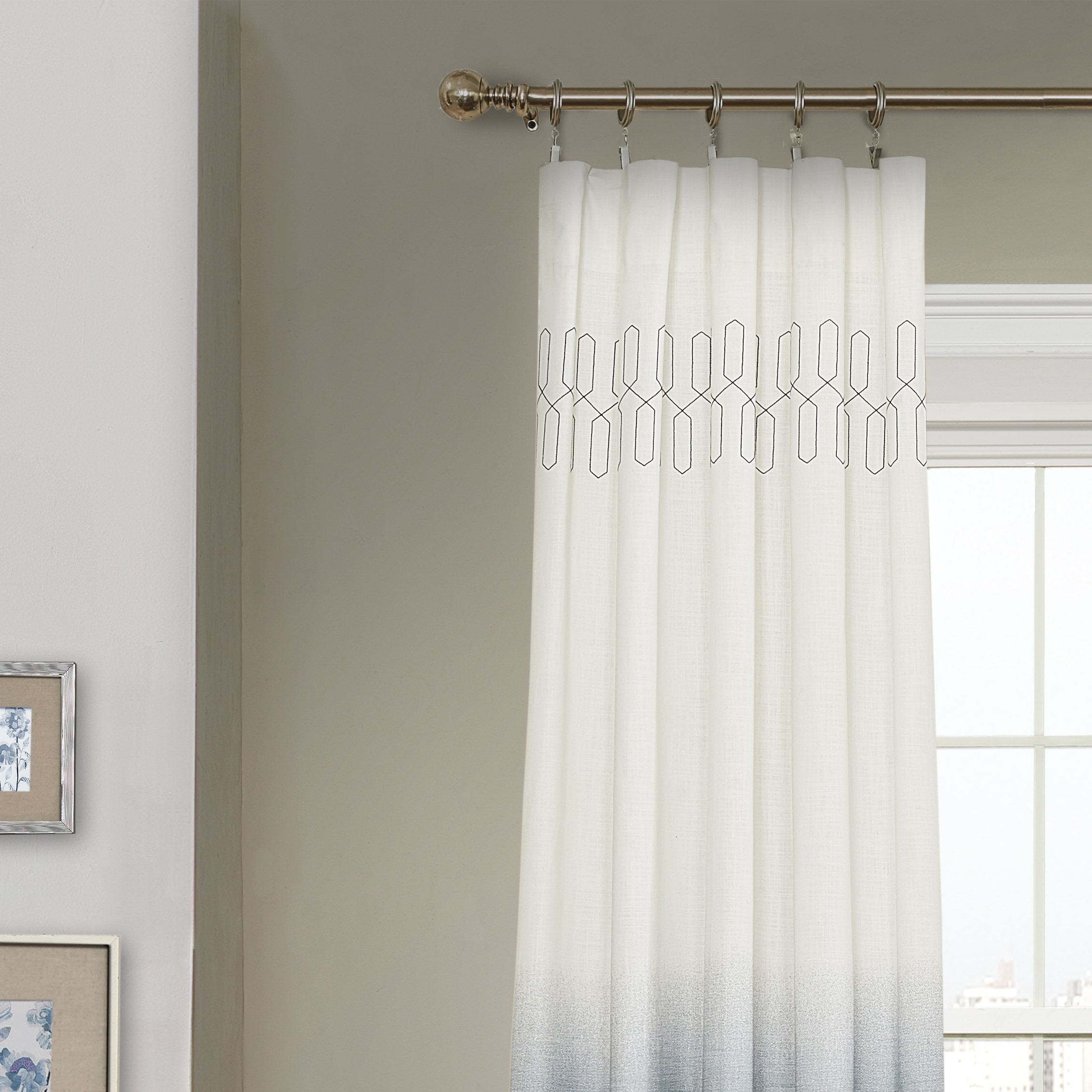 veratex ombre linen panels colorblock grommet brooklyn curtains panel window scheme of curtain quot