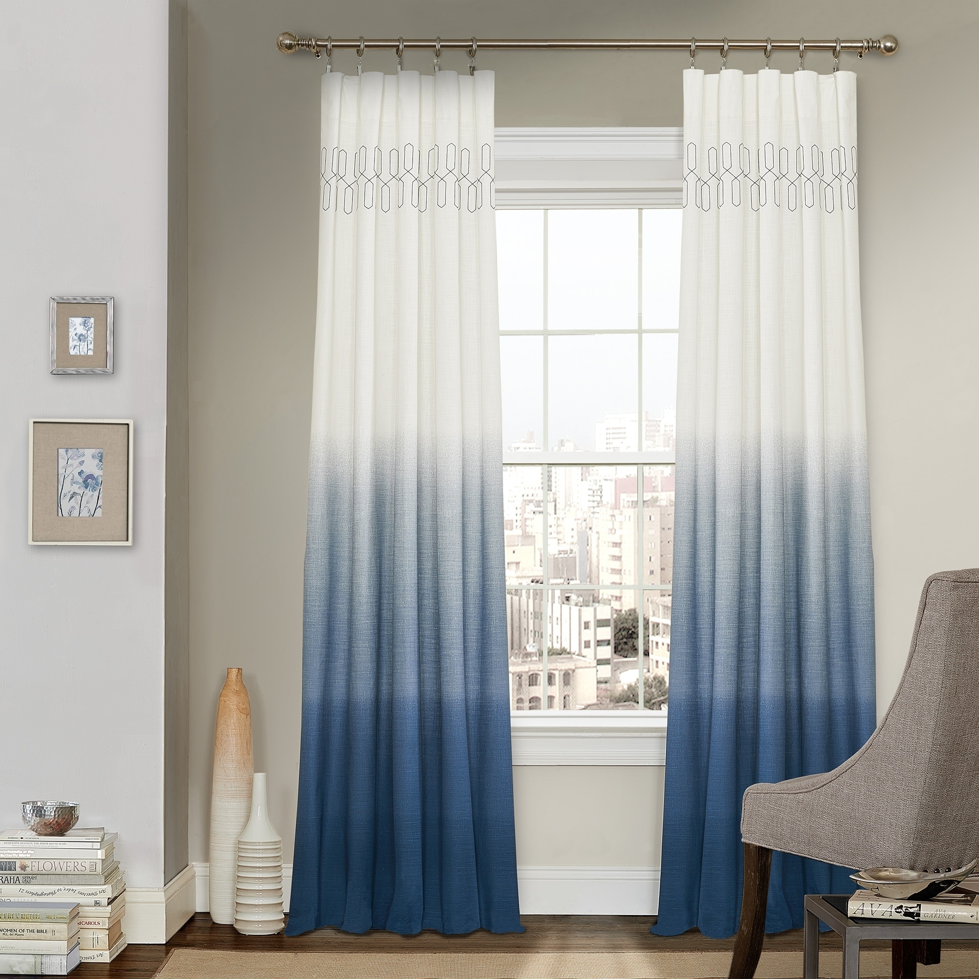 home curtain pocket treatments curtains rod window sheer ombre wayfair pdx semi panels dainty solid