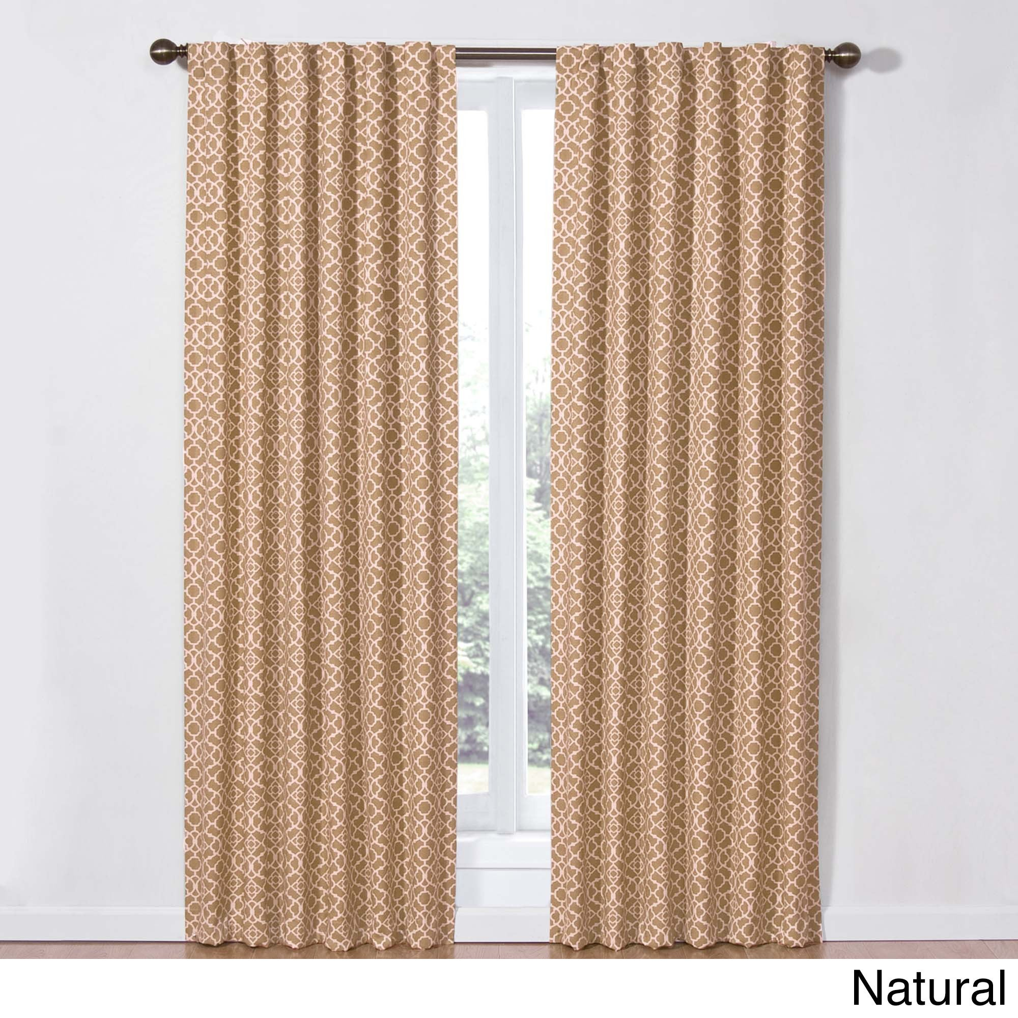 superior Waverly Lovely Lattice Curtain Part - 4: Shop Waverly Lovely Lattice Rod-Pocket Curtain Panel with Tieback - Free  Shipping On Orders Over $45 - Overstock.com - 11003173