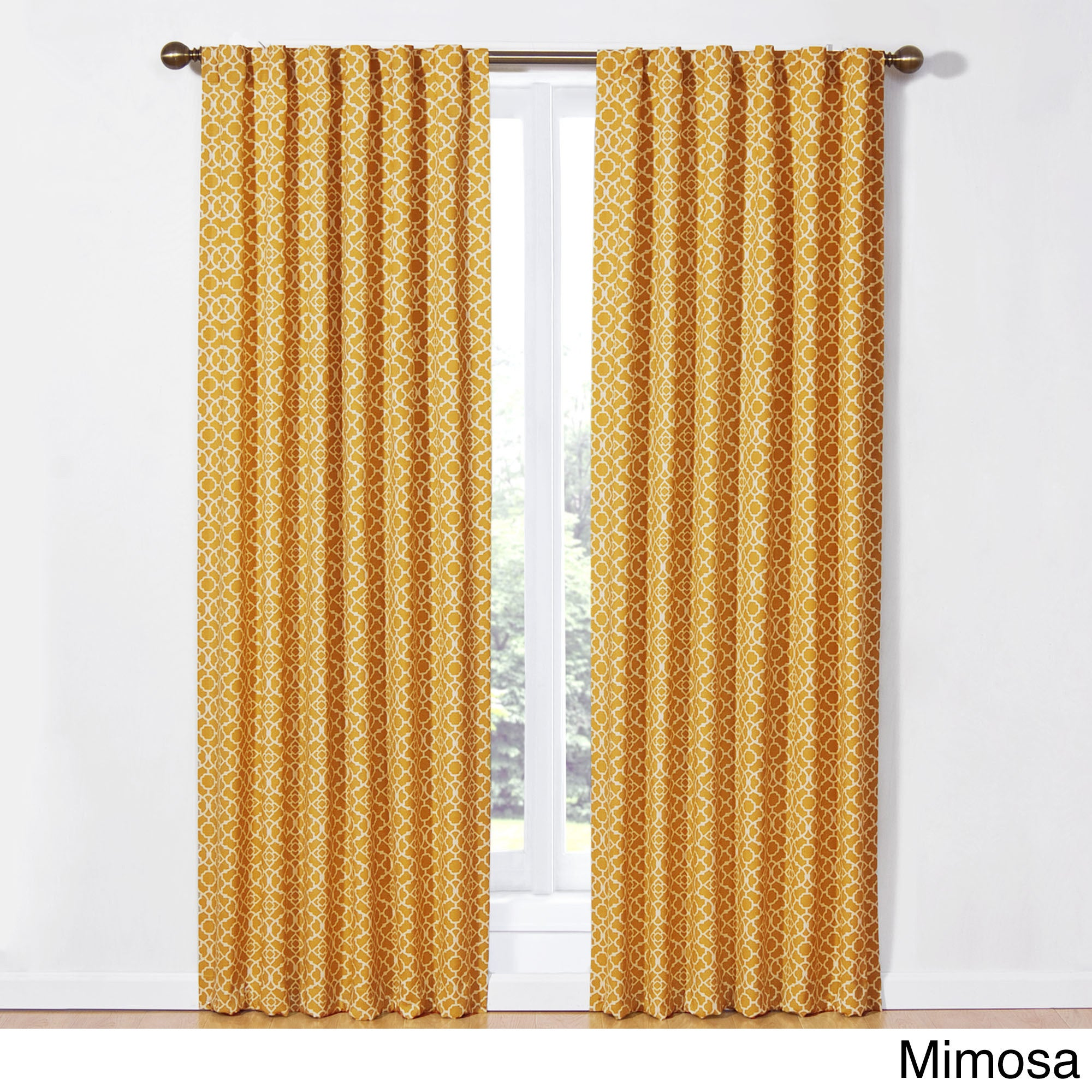 awesome Waverly Lovely Lattice Curtain Part - 7: Shop Waverly Lovely Lattice Rod-Pocket Curtain Panel with Tieback - Free  Shipping On Orders Over $45 - Overstock.com - 11003173