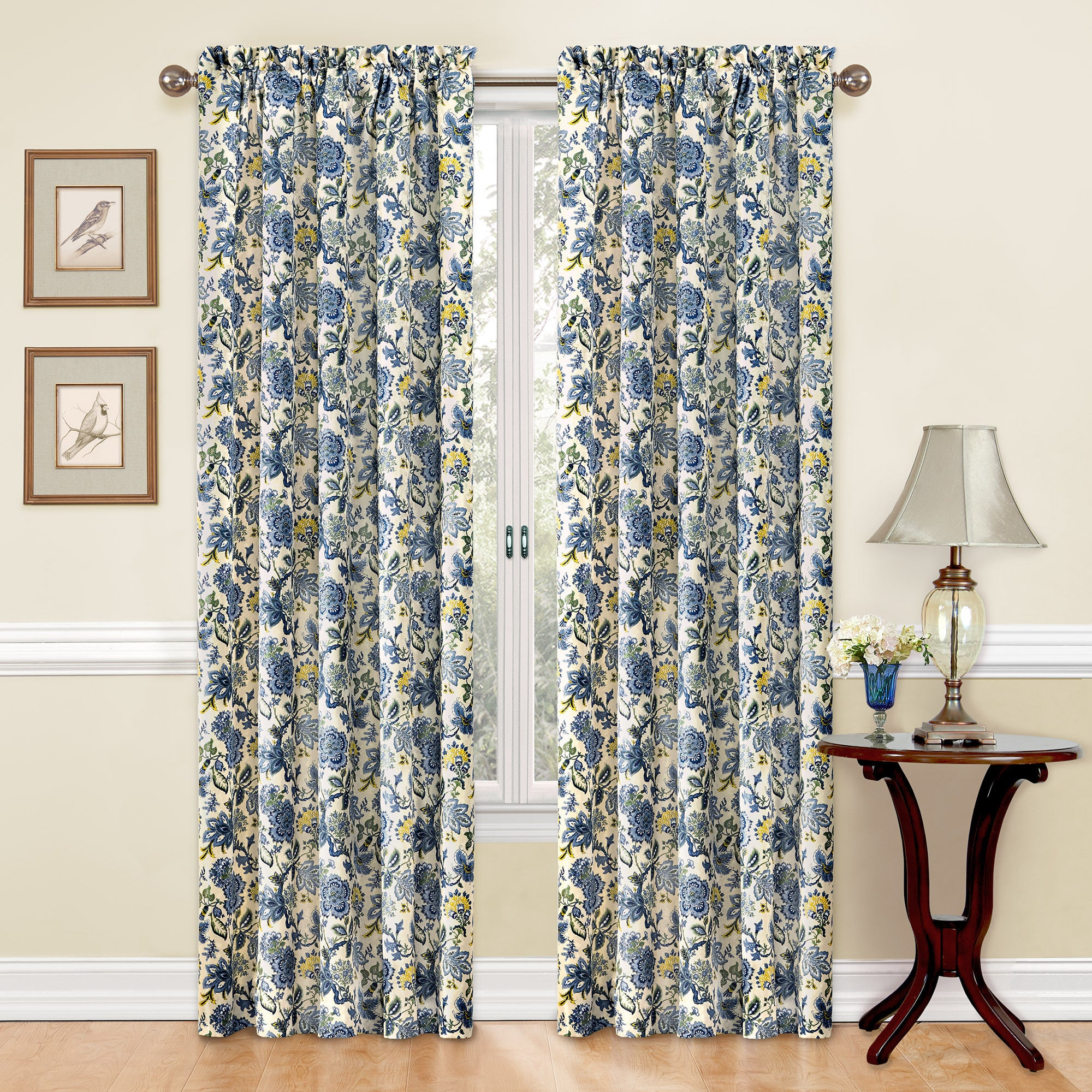 Traditions By Waverly Navarra Floral Curtain Panel   Free Shipping On  Orders Over $45   Overstock.com   18021984