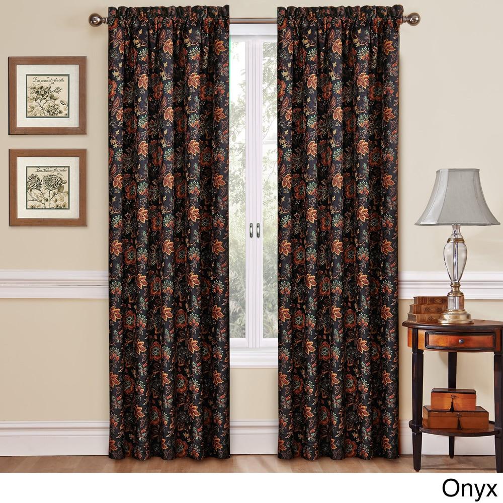 large drapery vintage floral curtain curtains linen drape fabric panels