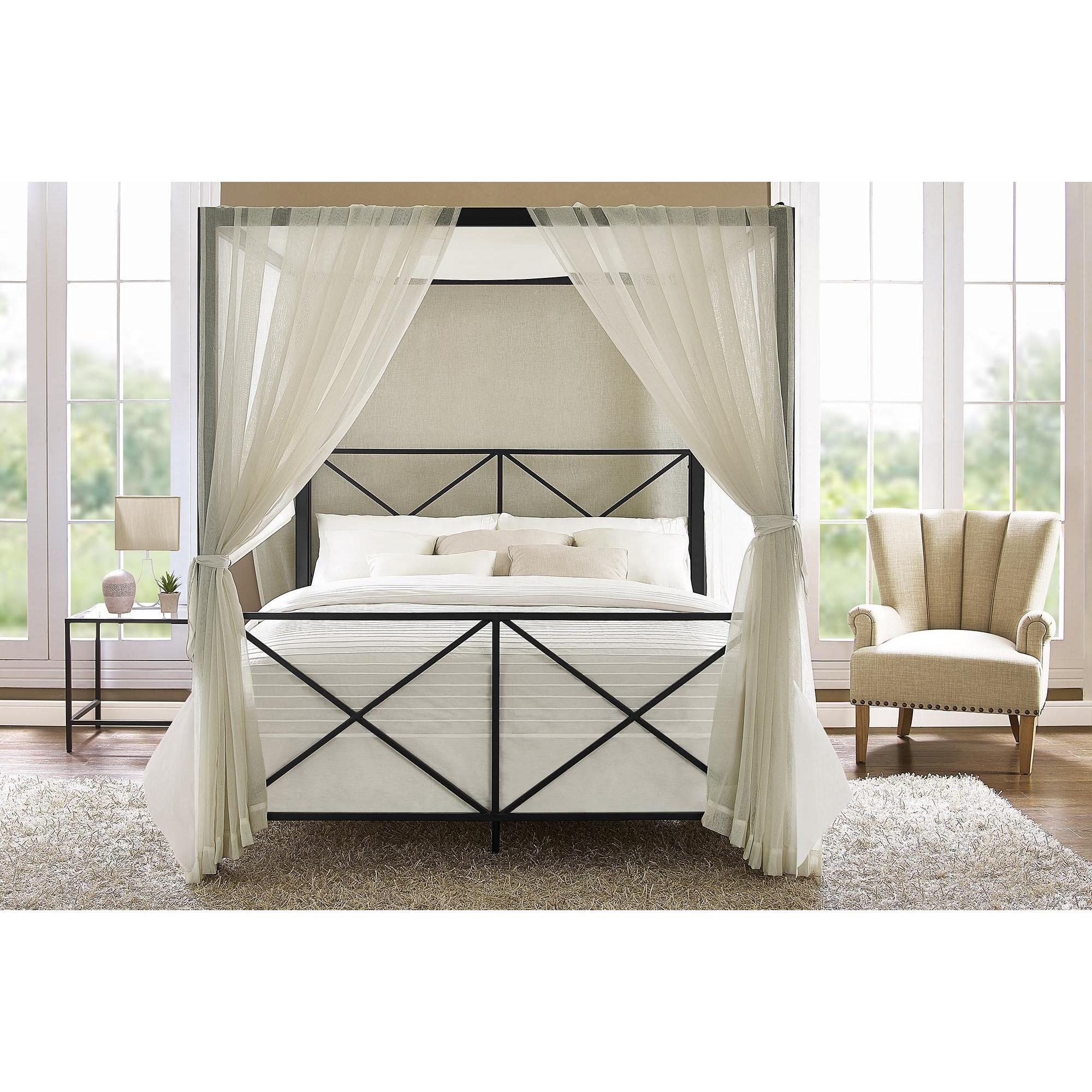 Shop Clay Alder Home Commodore Black Canopy Queen Bed   On Sale   Free  Shipping Today   Overstock.com   20255016