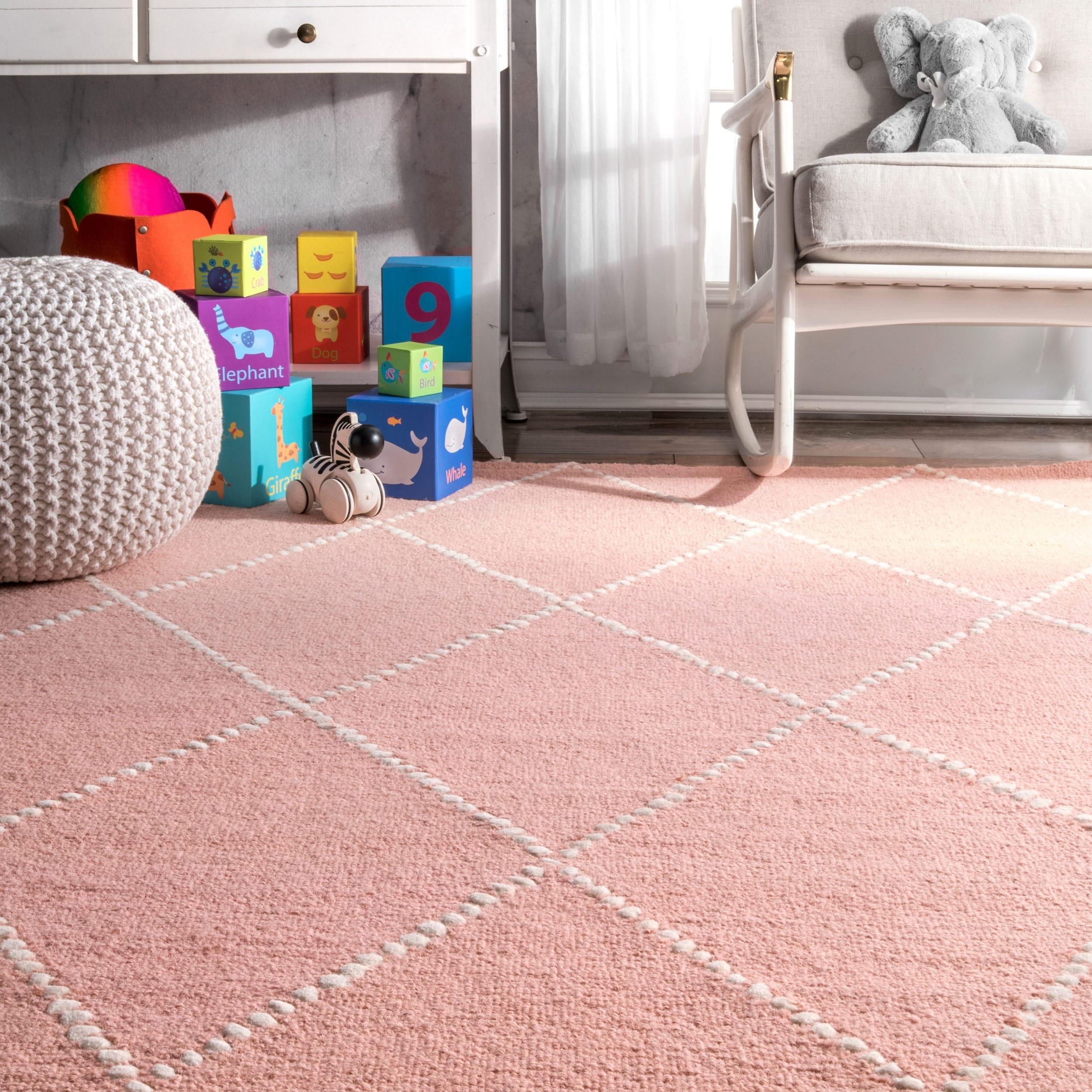 product contemporary shag rose cream pink area elephant patch rug color