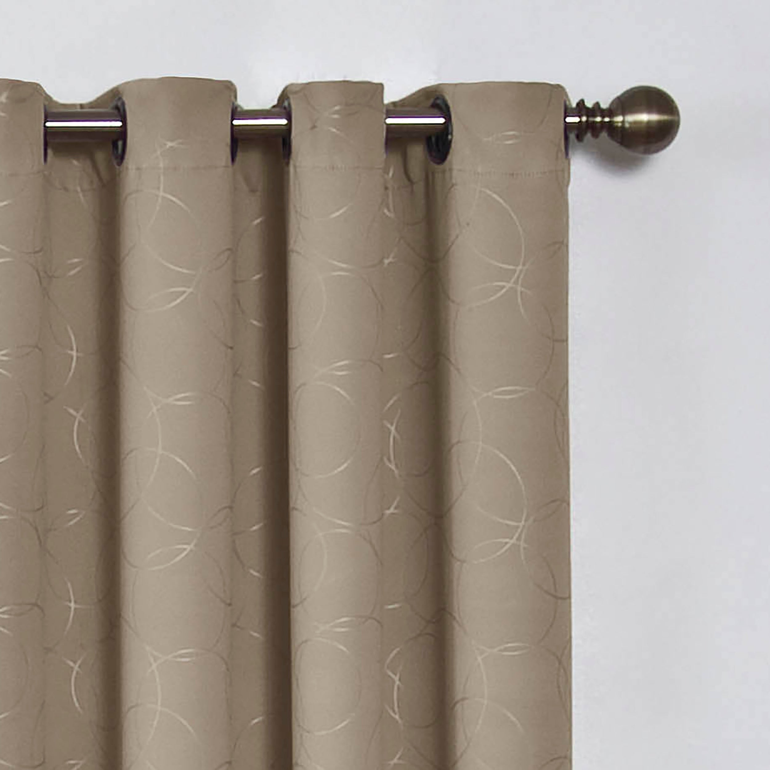 Eclipse Round And Round Blackout Window Curtain Panel  Free