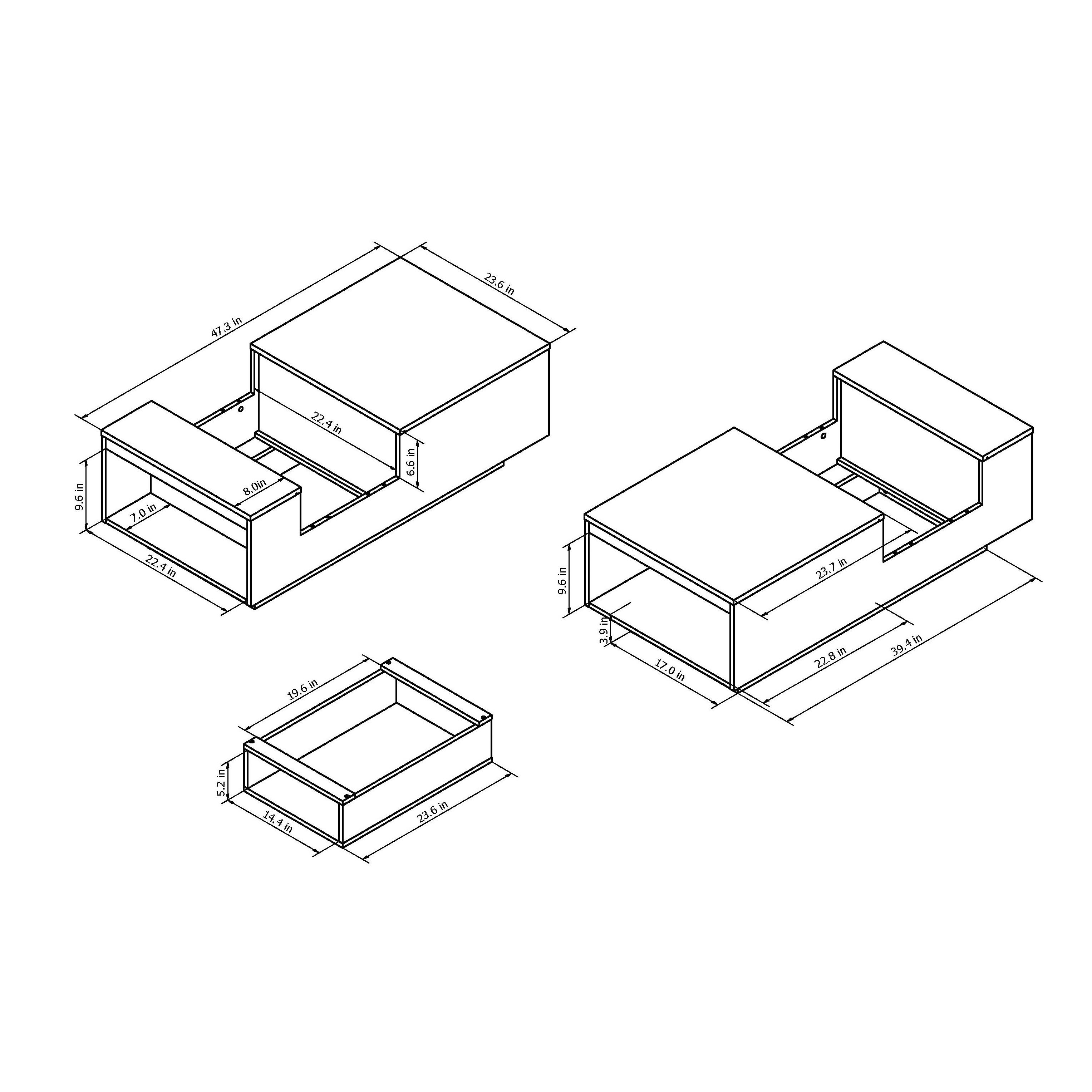 Coffee Table Drawing In Shop Furniture Of America Kassalie Modern Twotone Whiteblack Glass Top Coffee Table On Sale Free Shipping Today Overstockcom 11007265