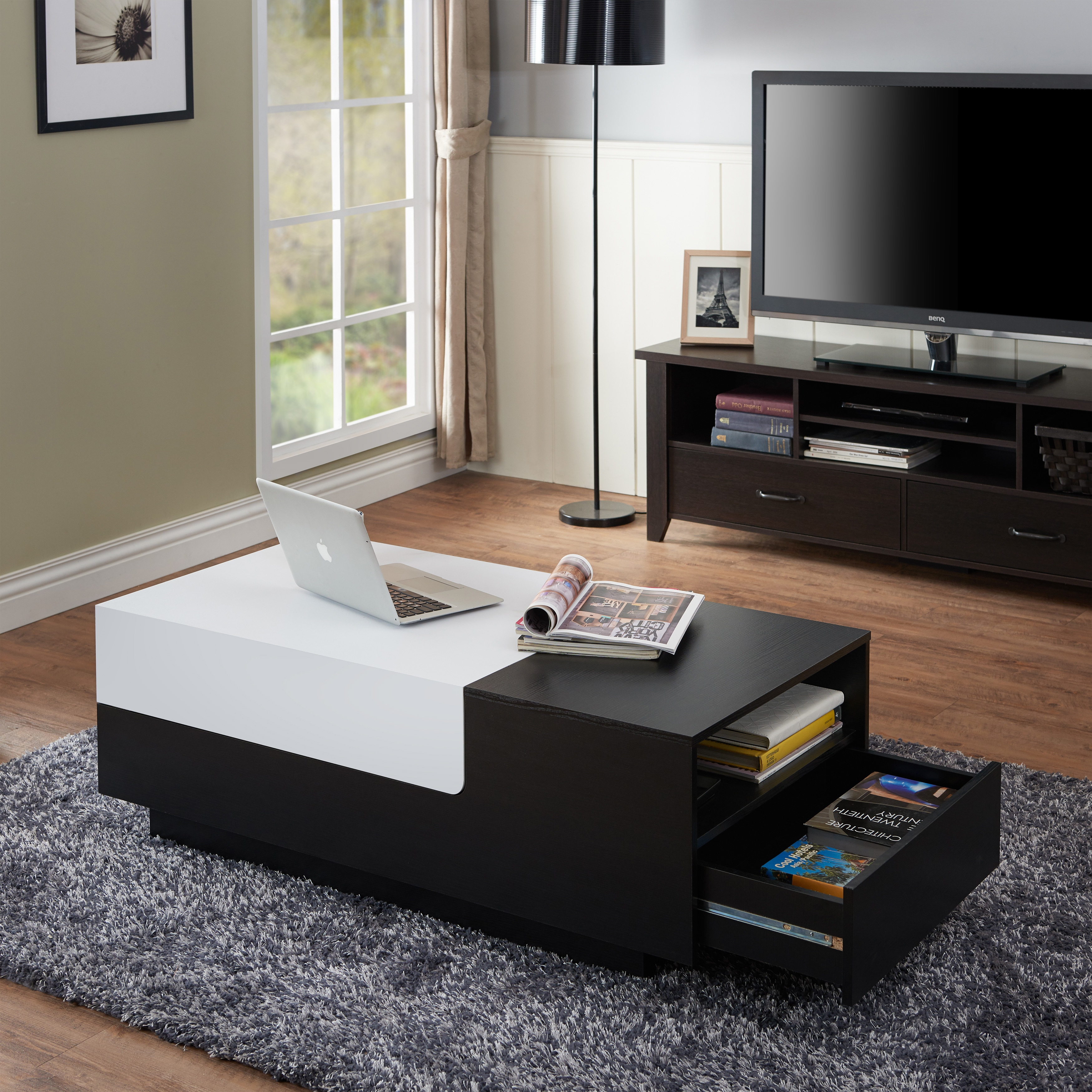 Shop strick bolton fremiet two tone coffee table free shipping today overstock com 22751720
