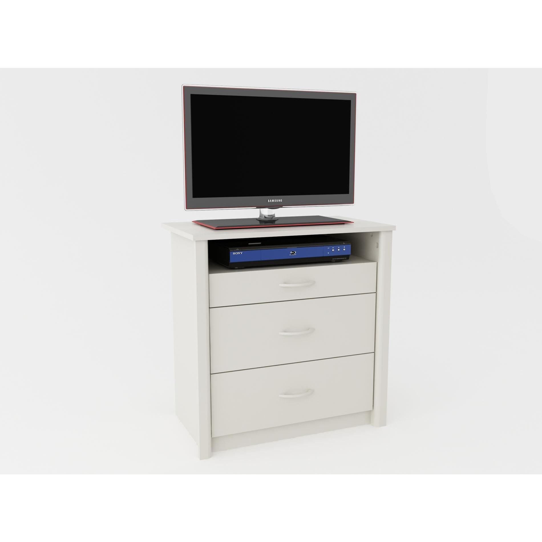 Shop Altra White Media Dresser Tv Stand With 3 Drawers Free