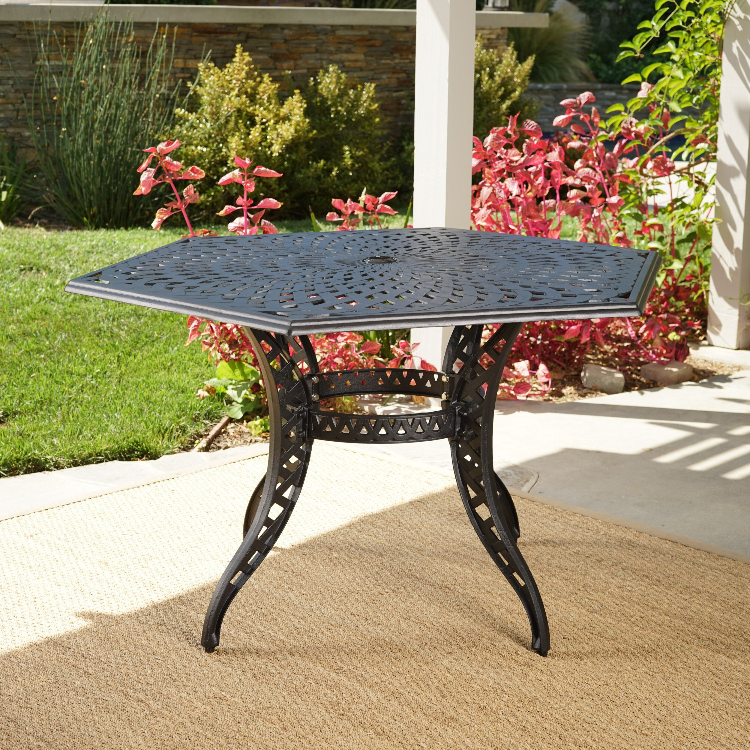 Outdoor Cayman Hexagon Cast Aluminum Bronze Dining Table ONLY by
