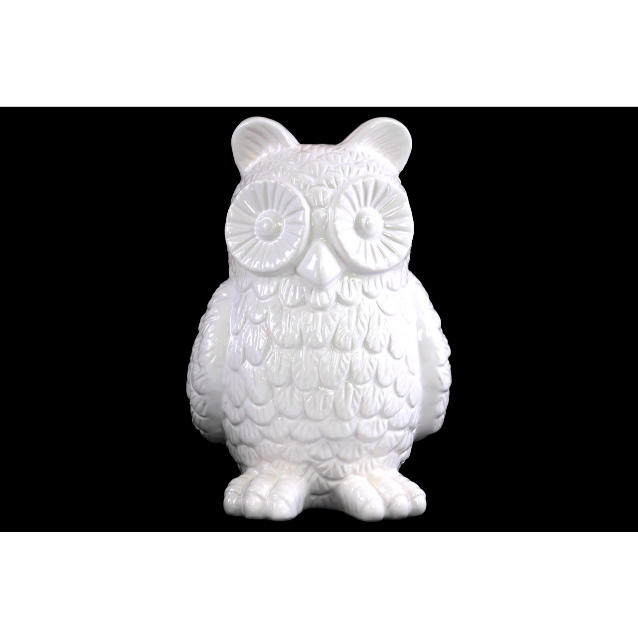 Gloss White Ceramic Owl Figurine Free Shipping On Orders Over 45 11017302
