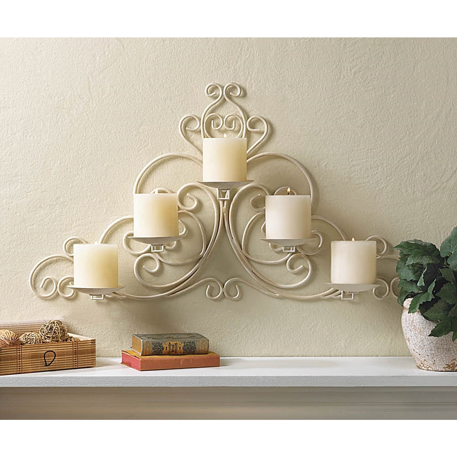 Shop Victorian Scrollwork Candle Wall Sconce Free Shipping Today