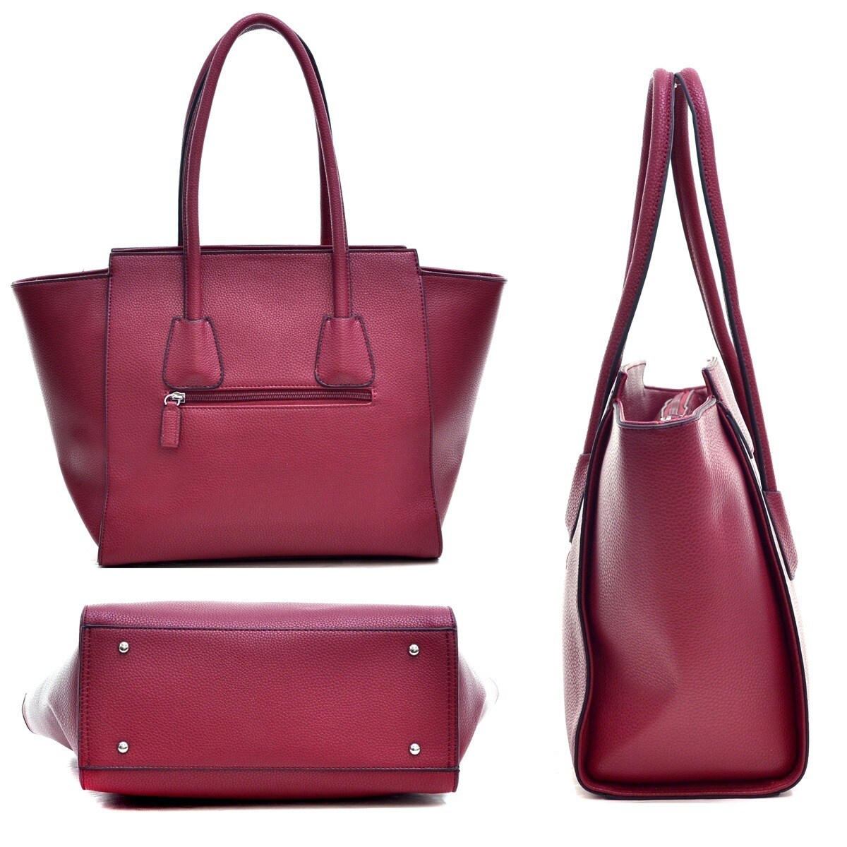 a7dab1e56b Shop Dasein Faux Leather Winged Satchel Women Shoulder Bag - On Sale - Free  Shipping Today - Overstock - 11018012