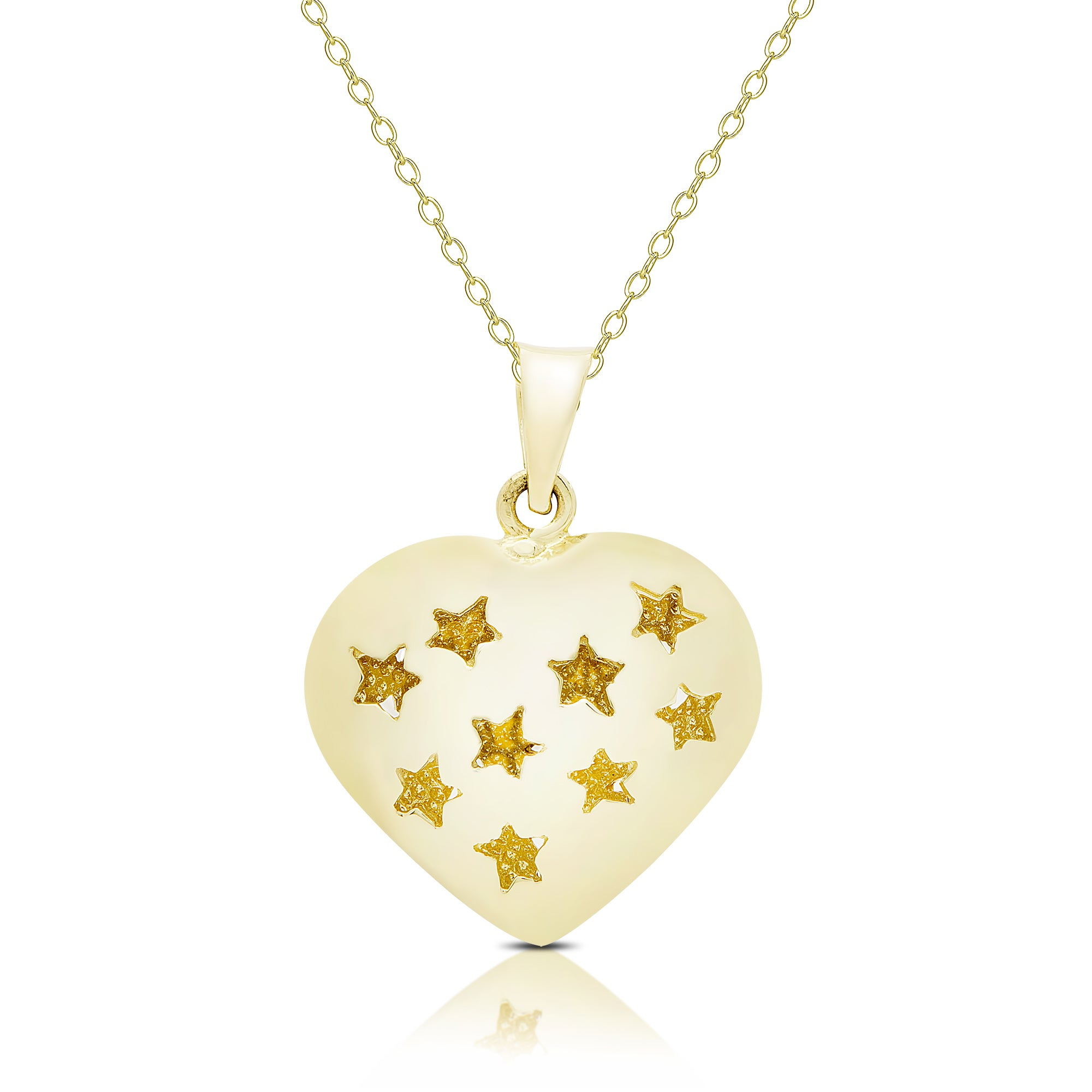 589e7cce9daf Shop Dolce Giavonna 14K Gold Heart Necklace - On Sale - Free ...