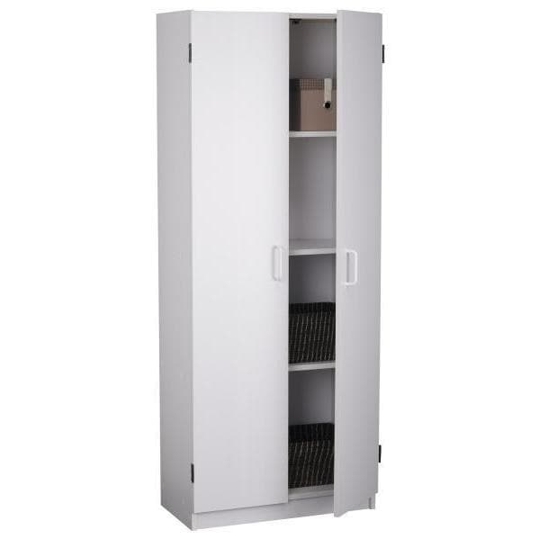ameriwood home flynn 24 inch kitchen pantry double door cabinet   free shipping today   overstock com   18037046 ameriwood home flynn 24 inch kitchen pantry double door cabinet      rh   overstock com